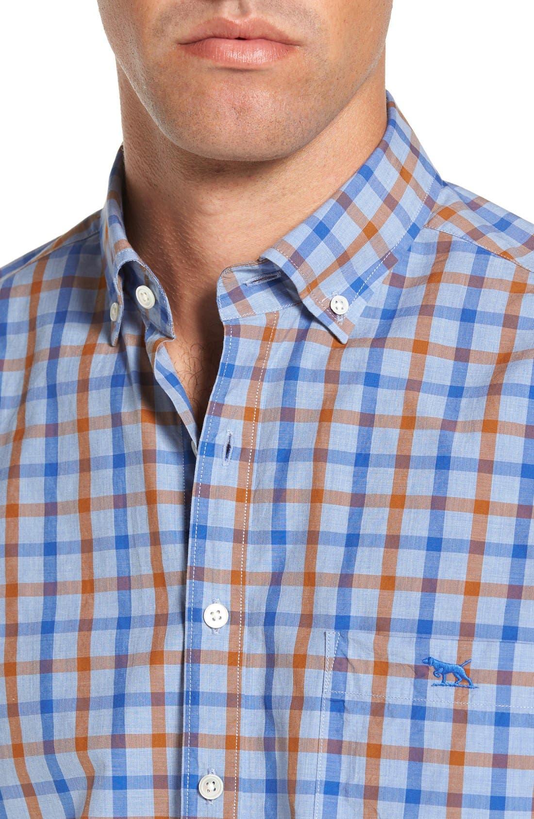 'Codfish Island' Sports Fit Check Sport Shirt,                             Alternate thumbnail 4, color,                             200