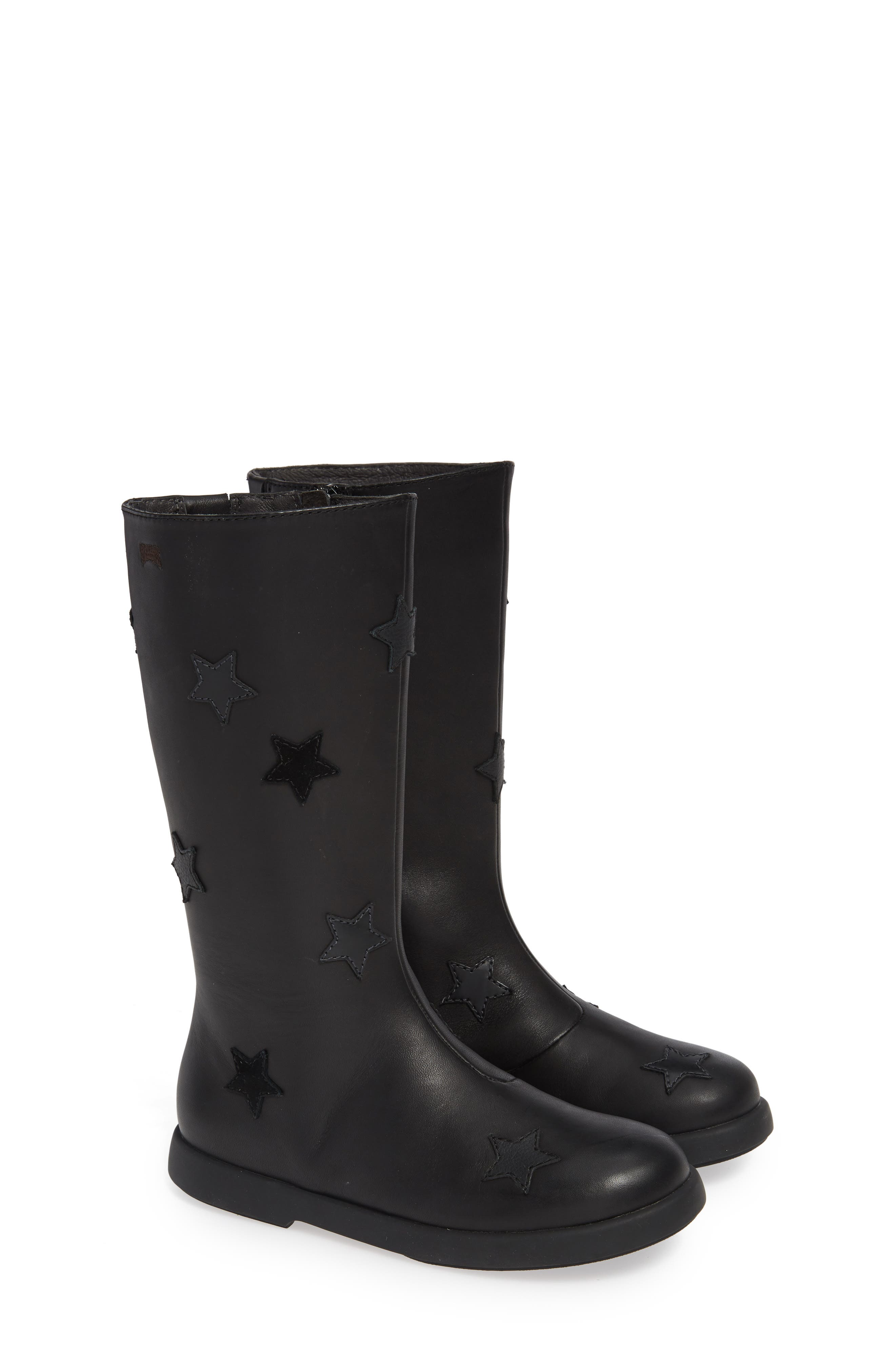 Star Appliqué Tall Boot,                             Alternate thumbnail 2, color,                             BLACK