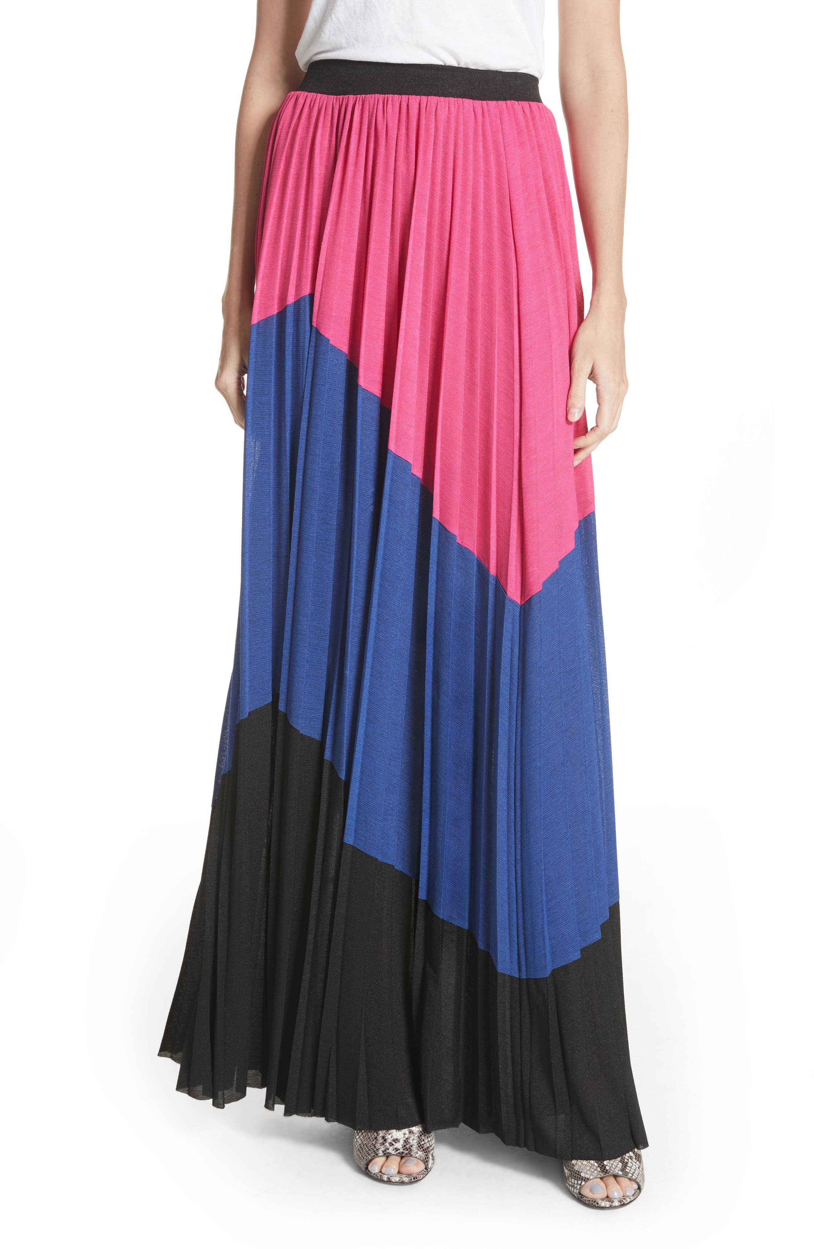 Colorblock Maxi Skirt,                             Main thumbnail 1, color,                             007