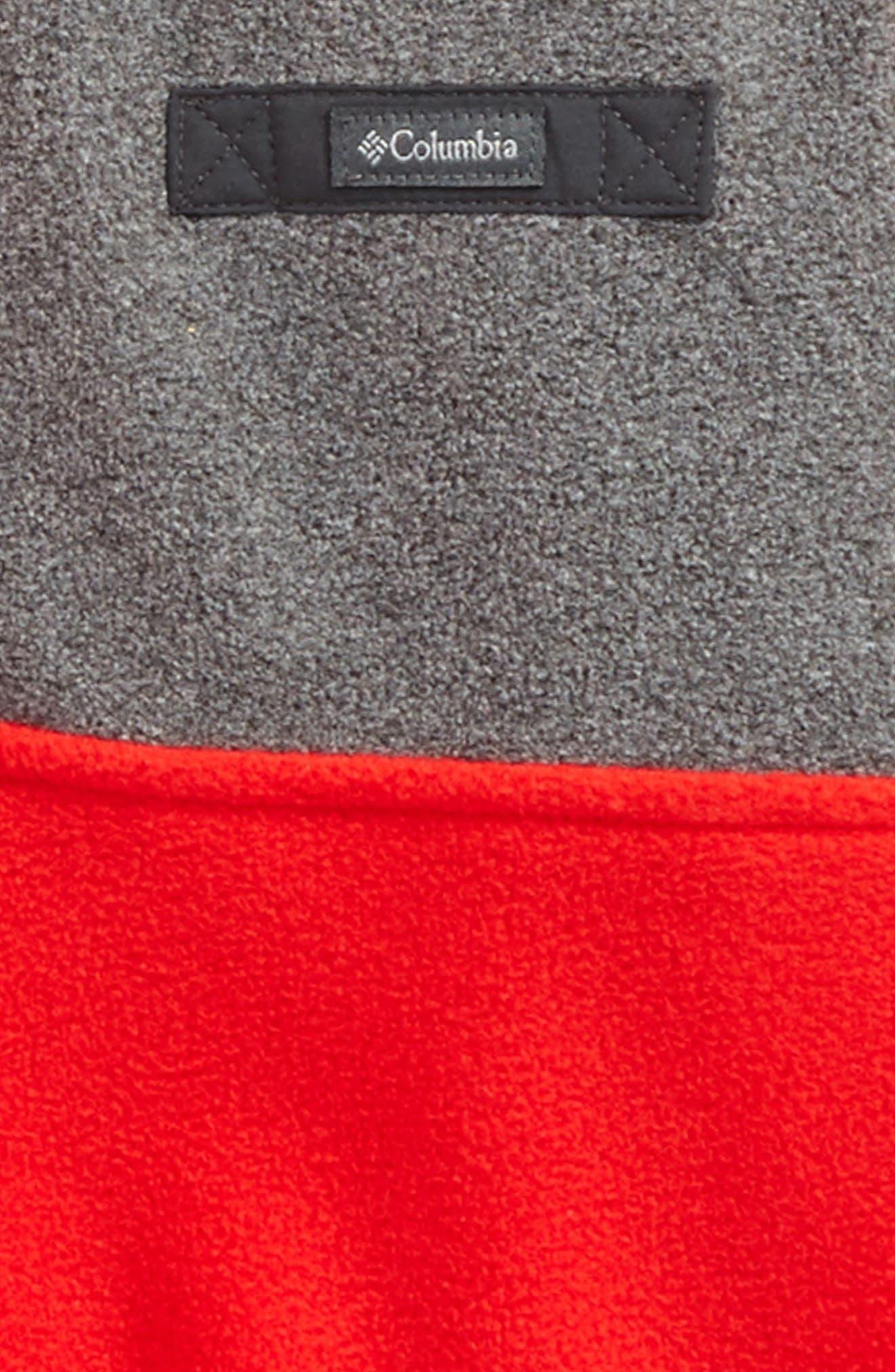 Mountain Side Quarter Zip Pullover Fleece Hoodie,                             Alternate thumbnail 4, color,