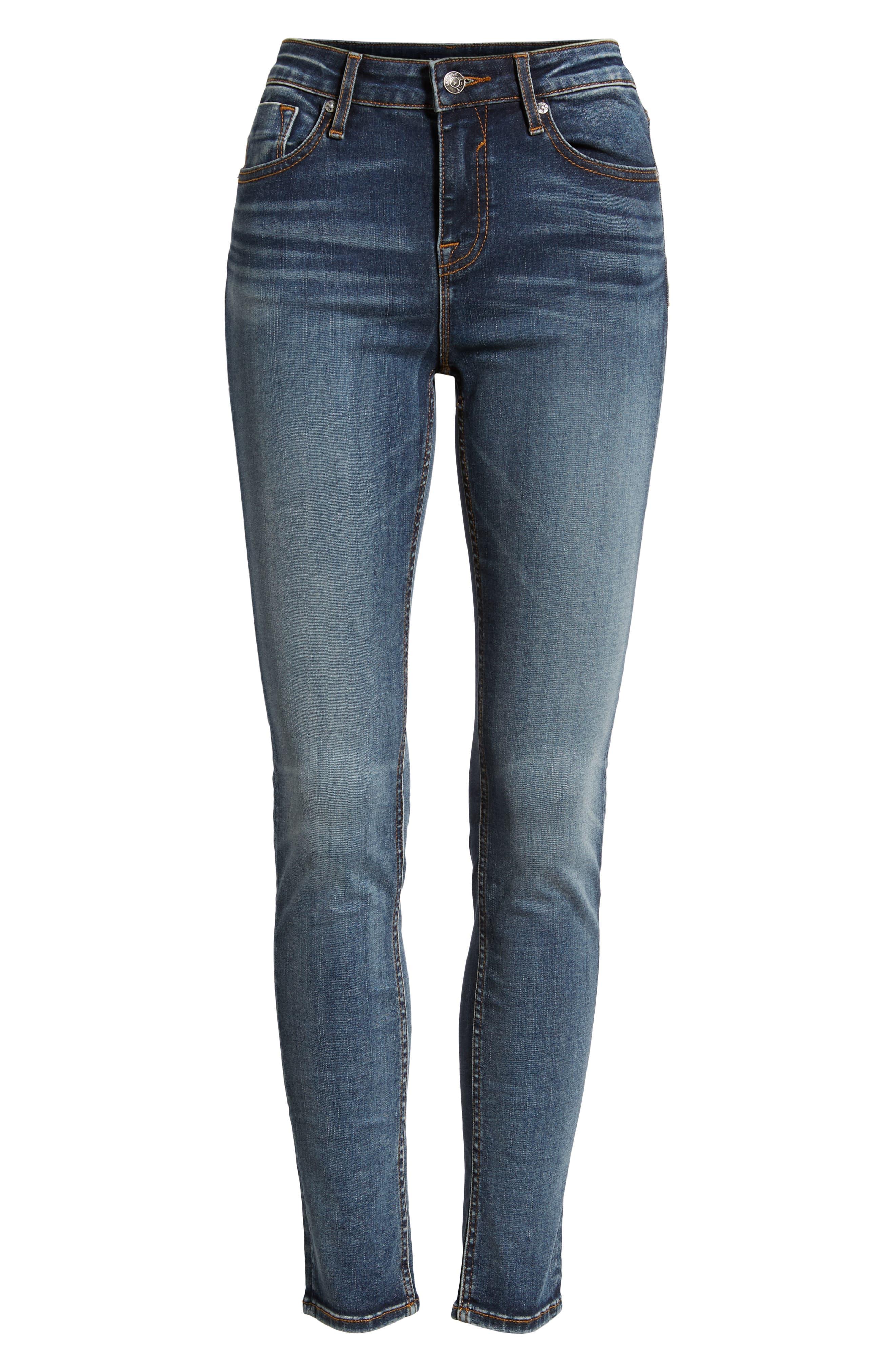 Marley Skinny Jeans,                             Alternate thumbnail 7, color,                             MED WASH