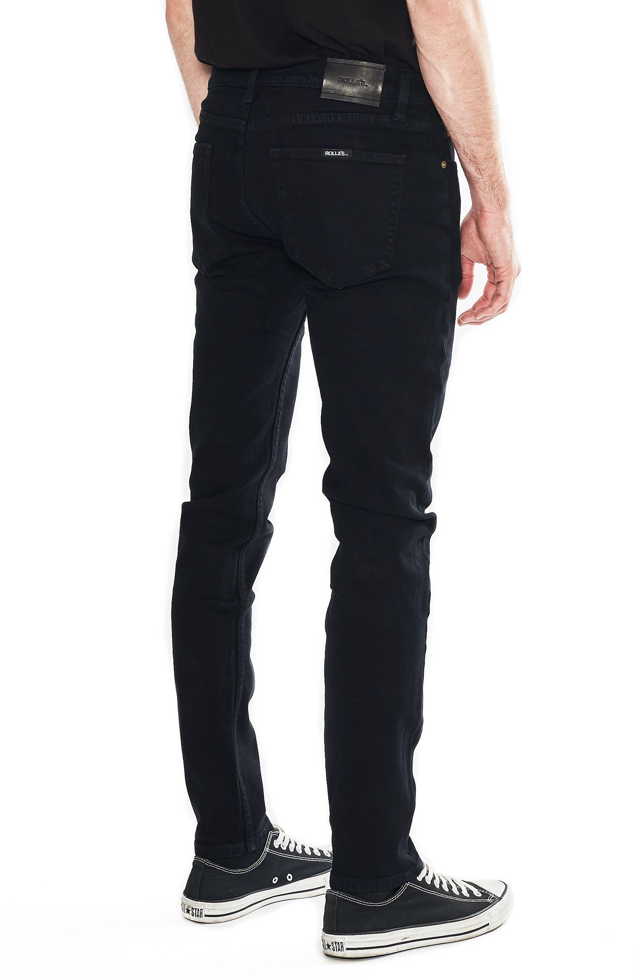 Thin Captain Slim Fit Jeans,                             Alternate thumbnail 4, color,                             BON BLACK
