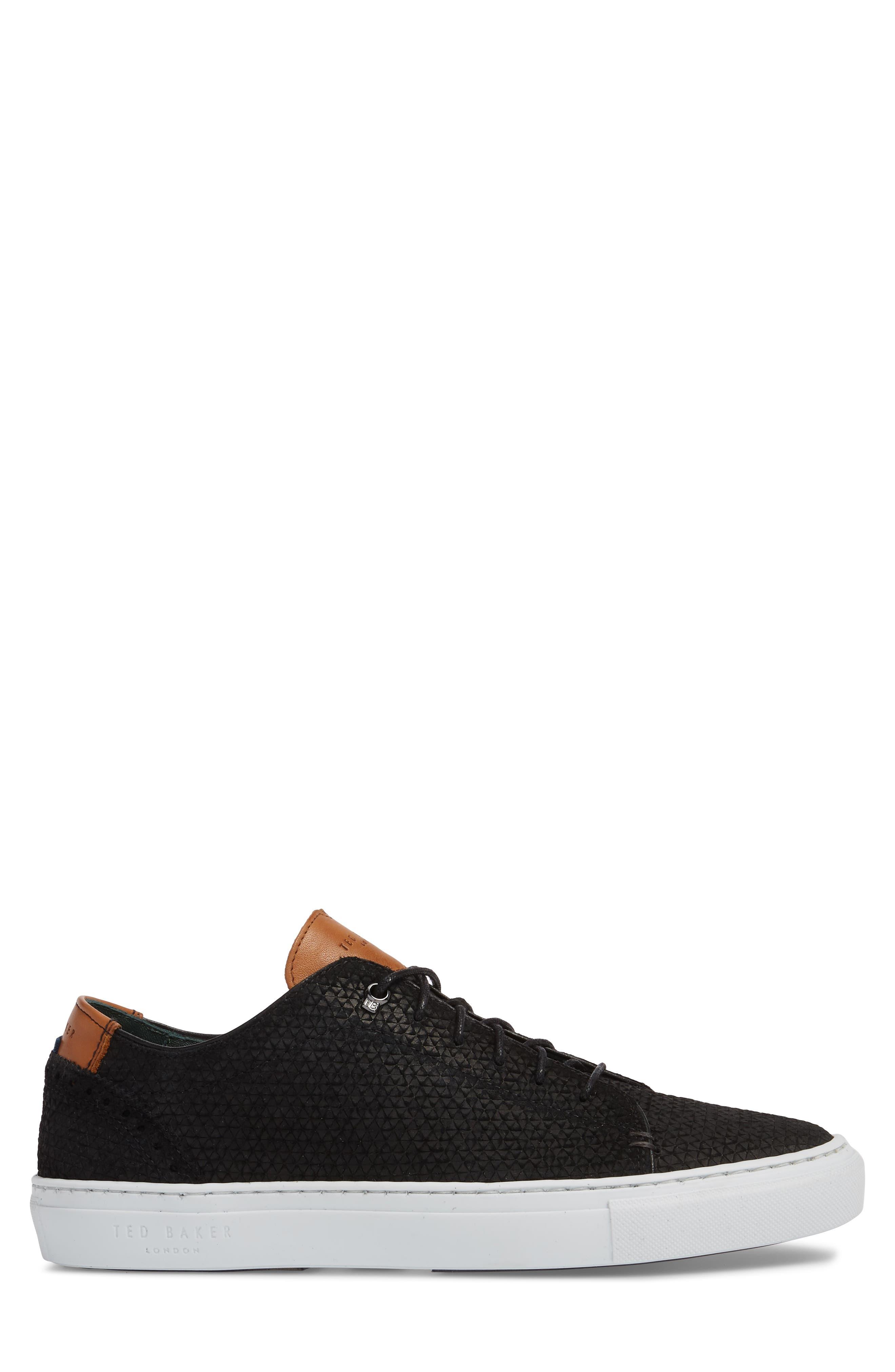 TED BAKER LONDON,                             Duukes Embossed Low Top Sneaker,                             Alternate thumbnail 3, color,                             010