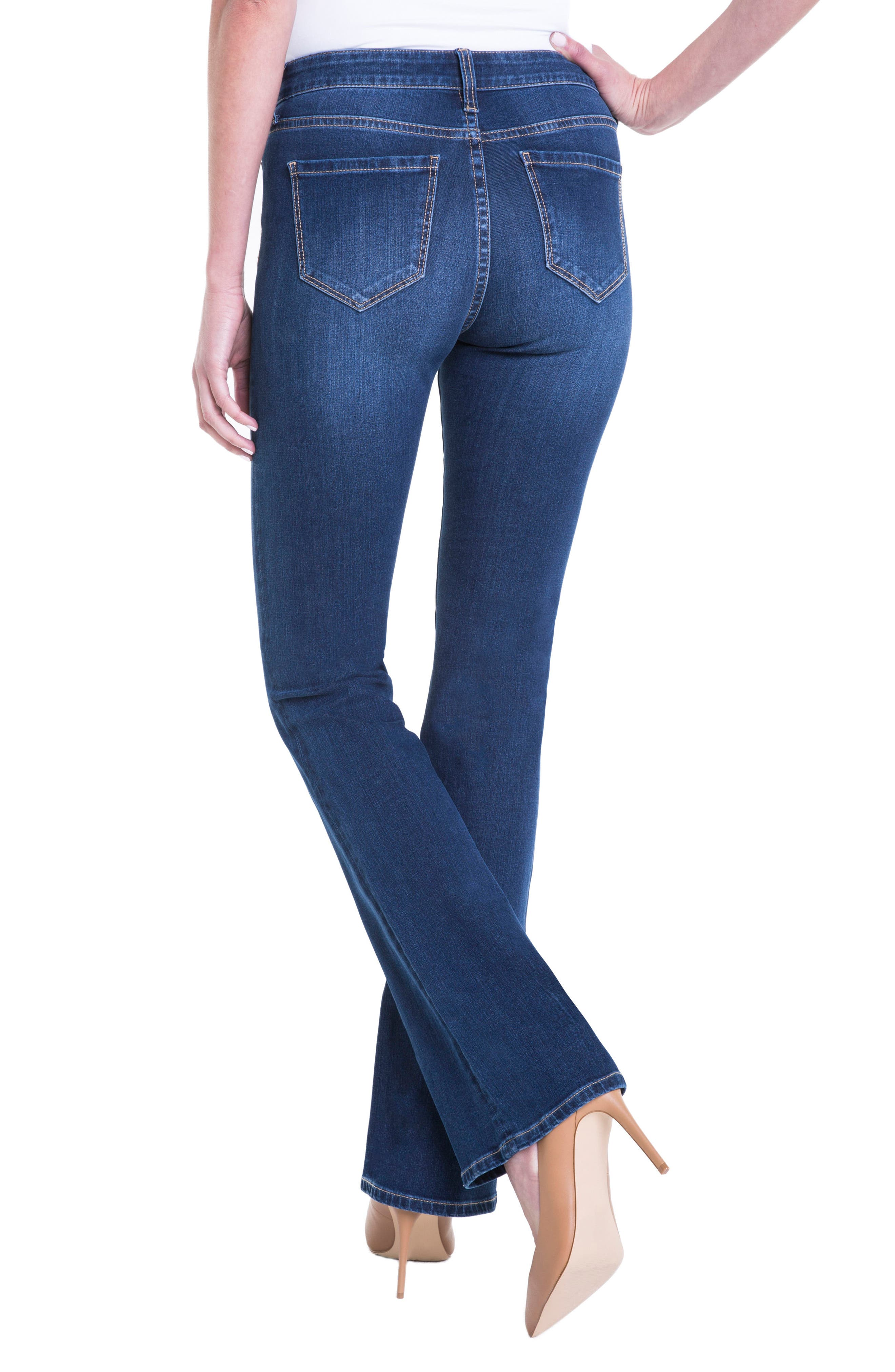 Lucy Stretch Bootcut Jeans,                             Alternate thumbnail 2, color,                             LYNX WASH