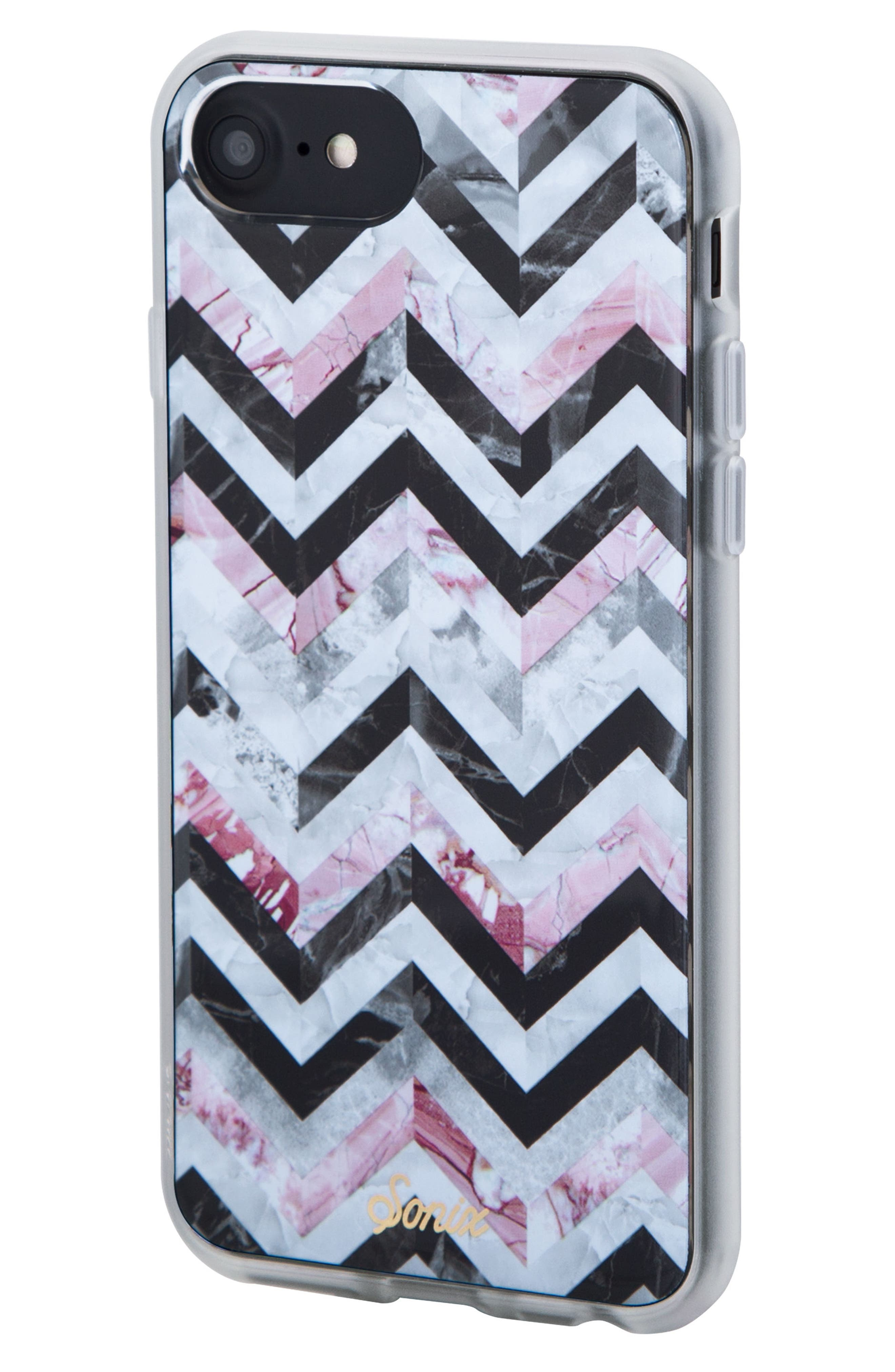 City Tile iPhone 6/6s/7/8 & 6/6s/7/8 Plus Case,                             Alternate thumbnail 2, color,                             BLACK/ MARBLE