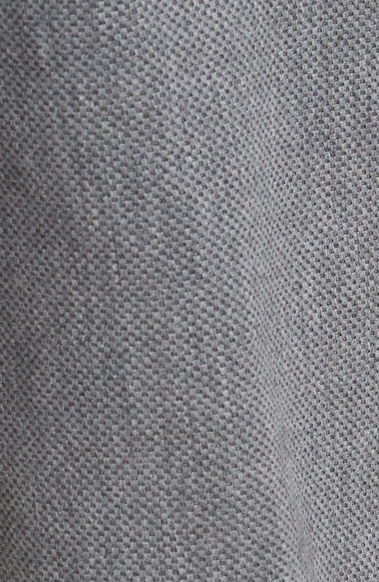 Straight Leg Five Pocket Stretch Pants,                             Alternate thumbnail 5, color,                             HEATHER CHARCOAL CROSSHATCH