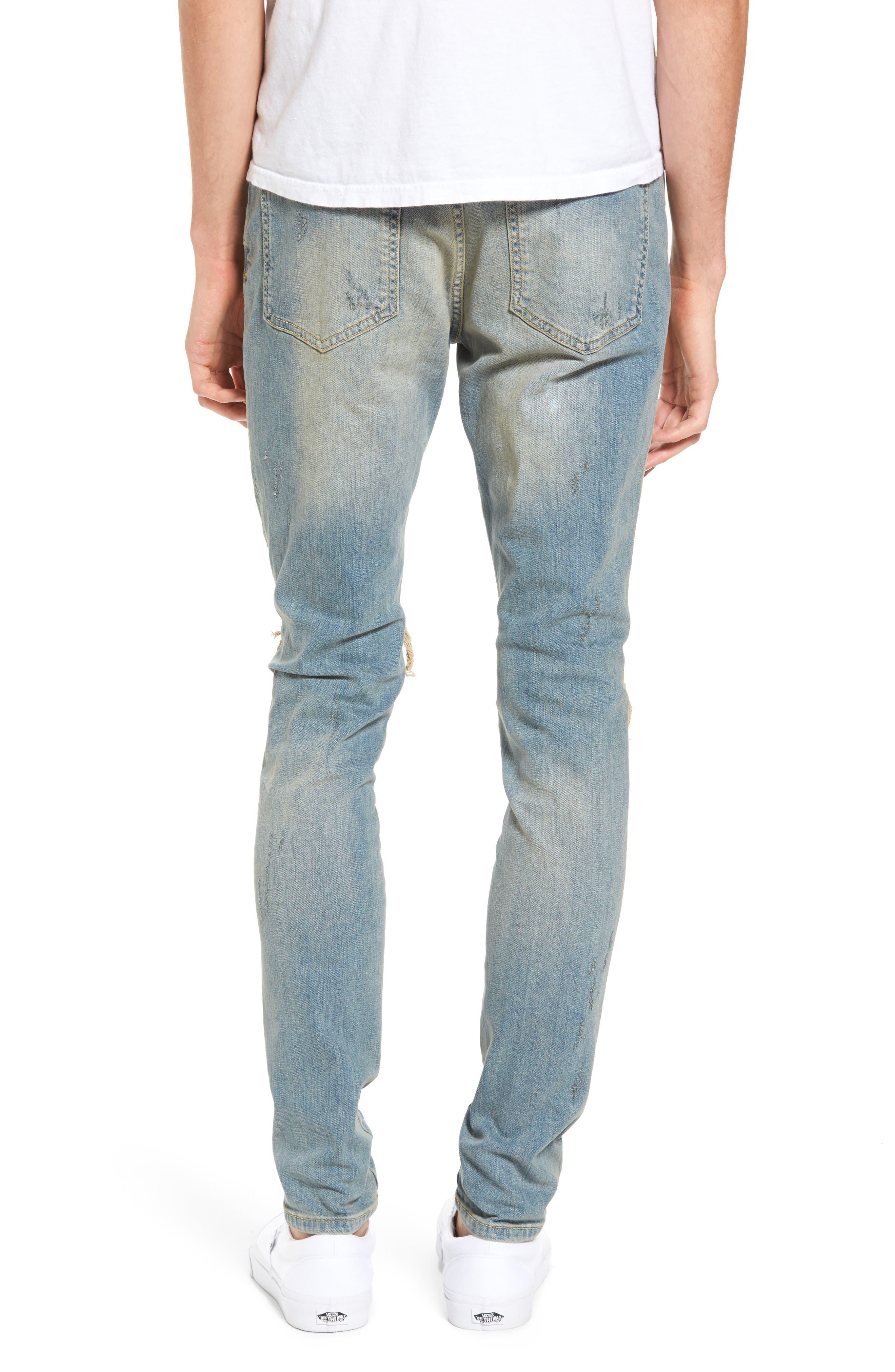 Slim Fit Destroyed Jeans,                             Alternate thumbnail 6, color,
