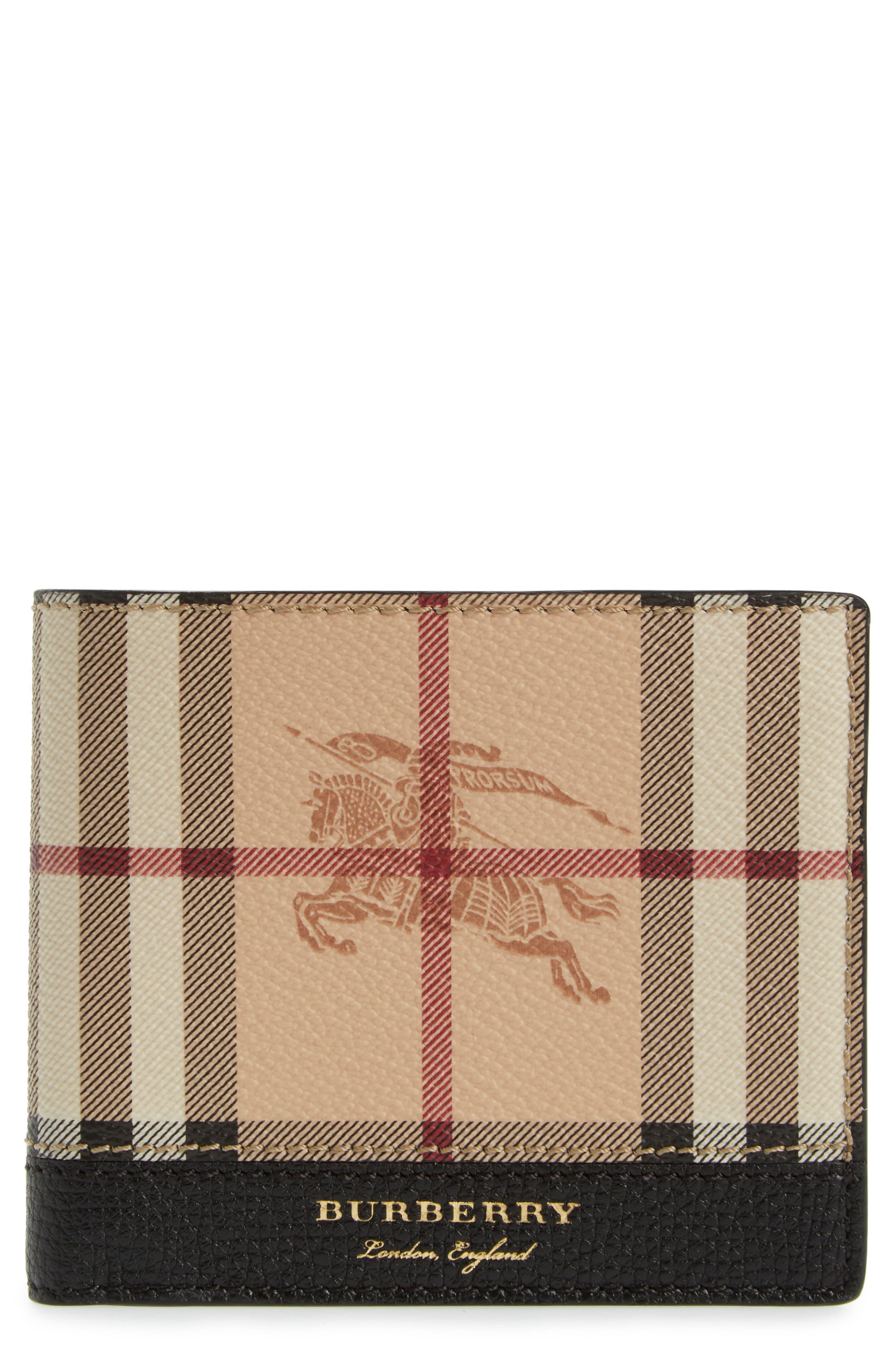 Haymarket Check Wallet,                         Main,                         color, 001