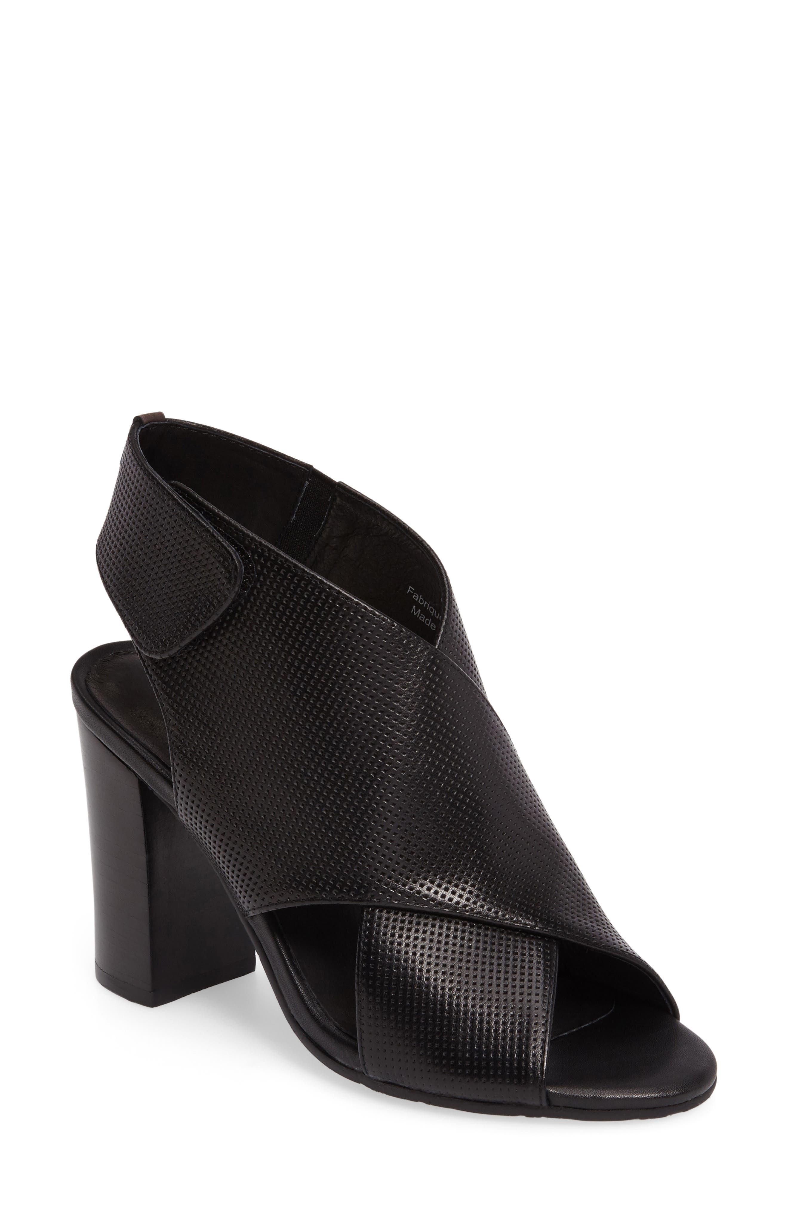 Benedetta Block Heel Sandal,                             Main thumbnail 1, color,                             001