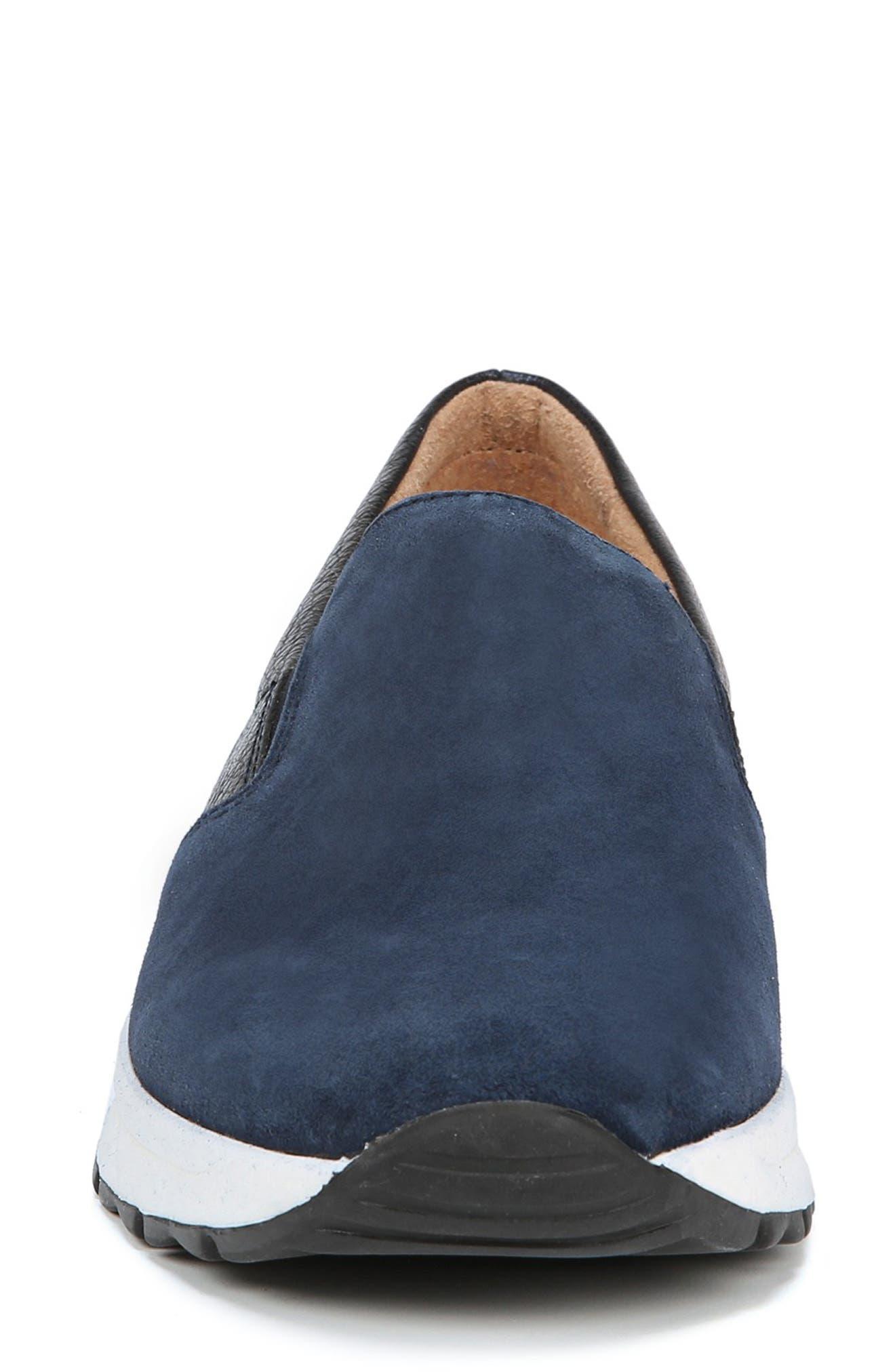 Selah Slip-On Sneaker,                             Alternate thumbnail 4, color,                             INKY NAVY SUEDE