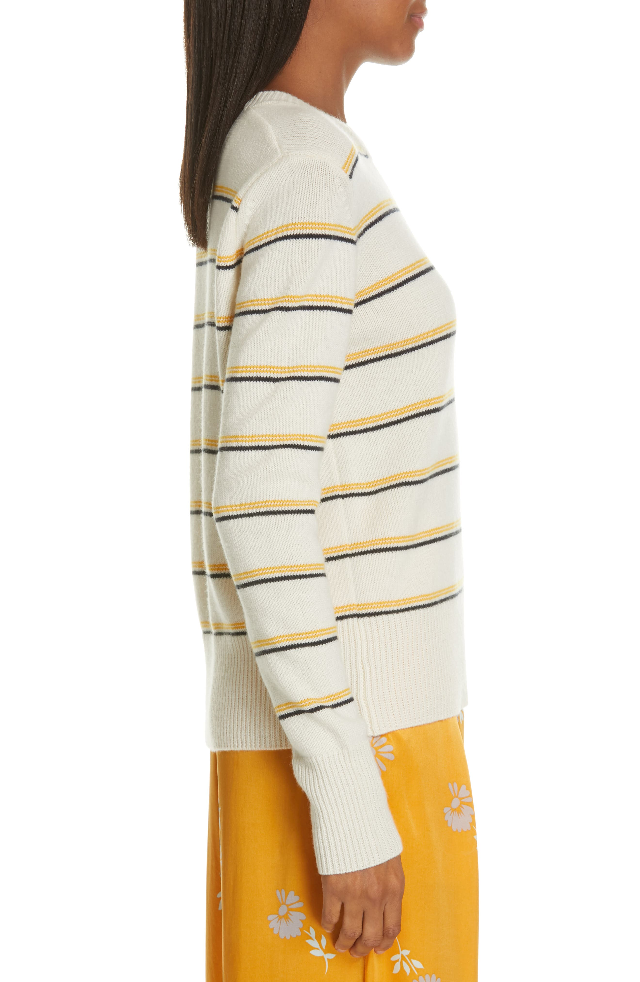 Duru Wool & Cashmere Sweater,                             Alternate thumbnail 3, color,                             NATURE WHITE MULTI