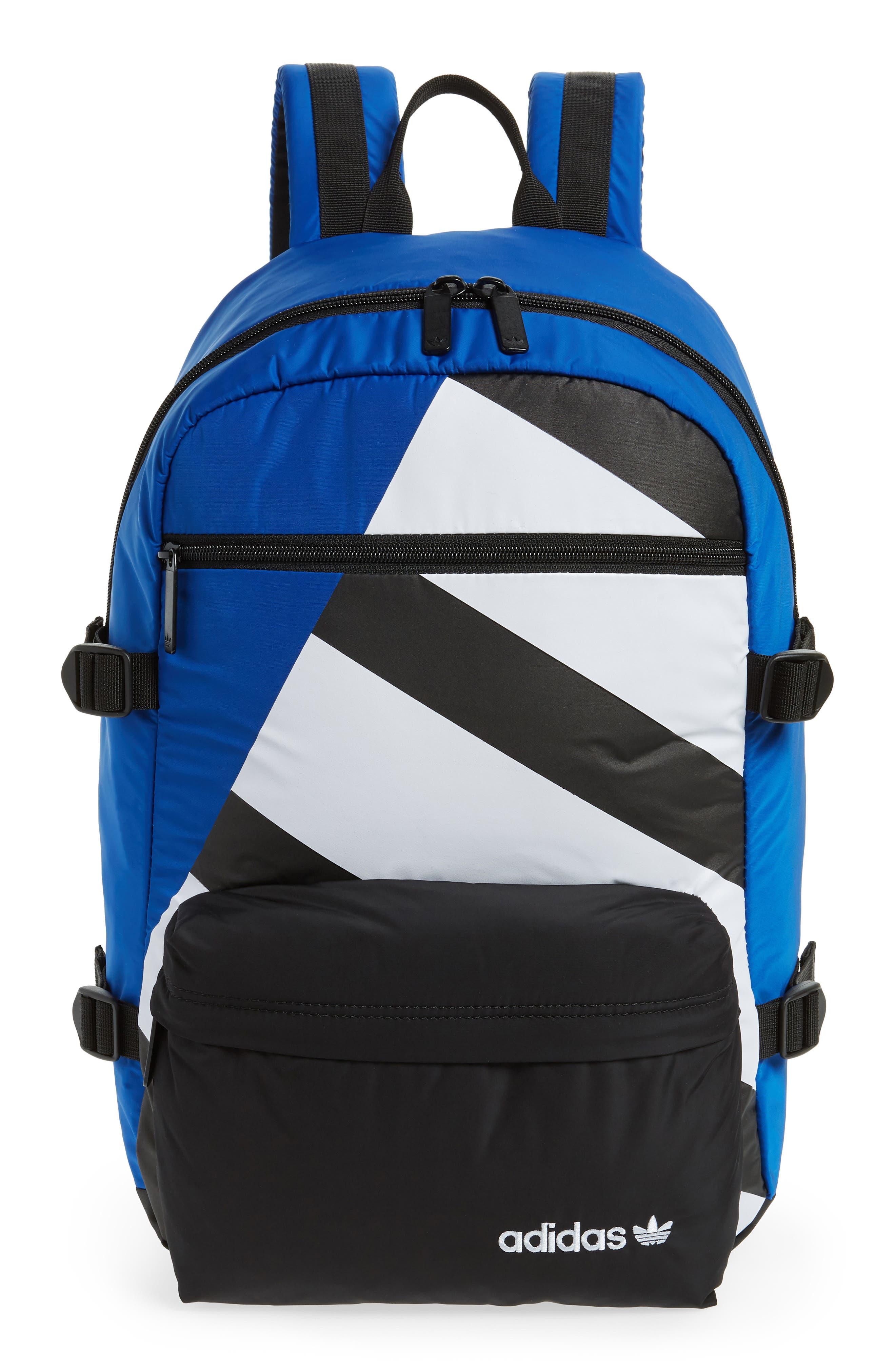 adidas Original EQT Blocked Backpack,                         Main,                         color, COLLEGIATE BLUE/ BLACK/ WHITE