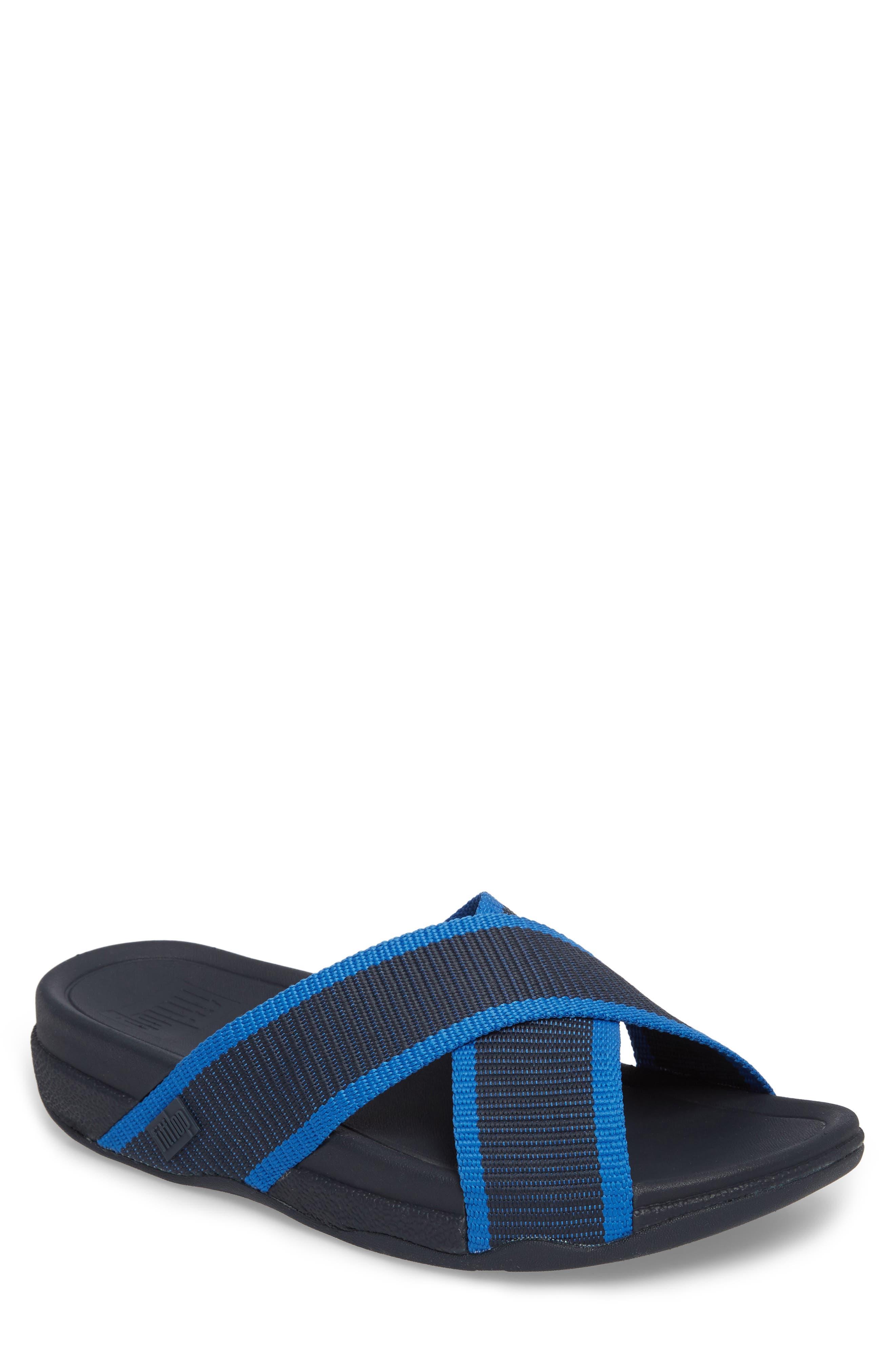 Surfer Slide Sandal,                             Main thumbnail 1, color,                             SUPERNAVY BLUE