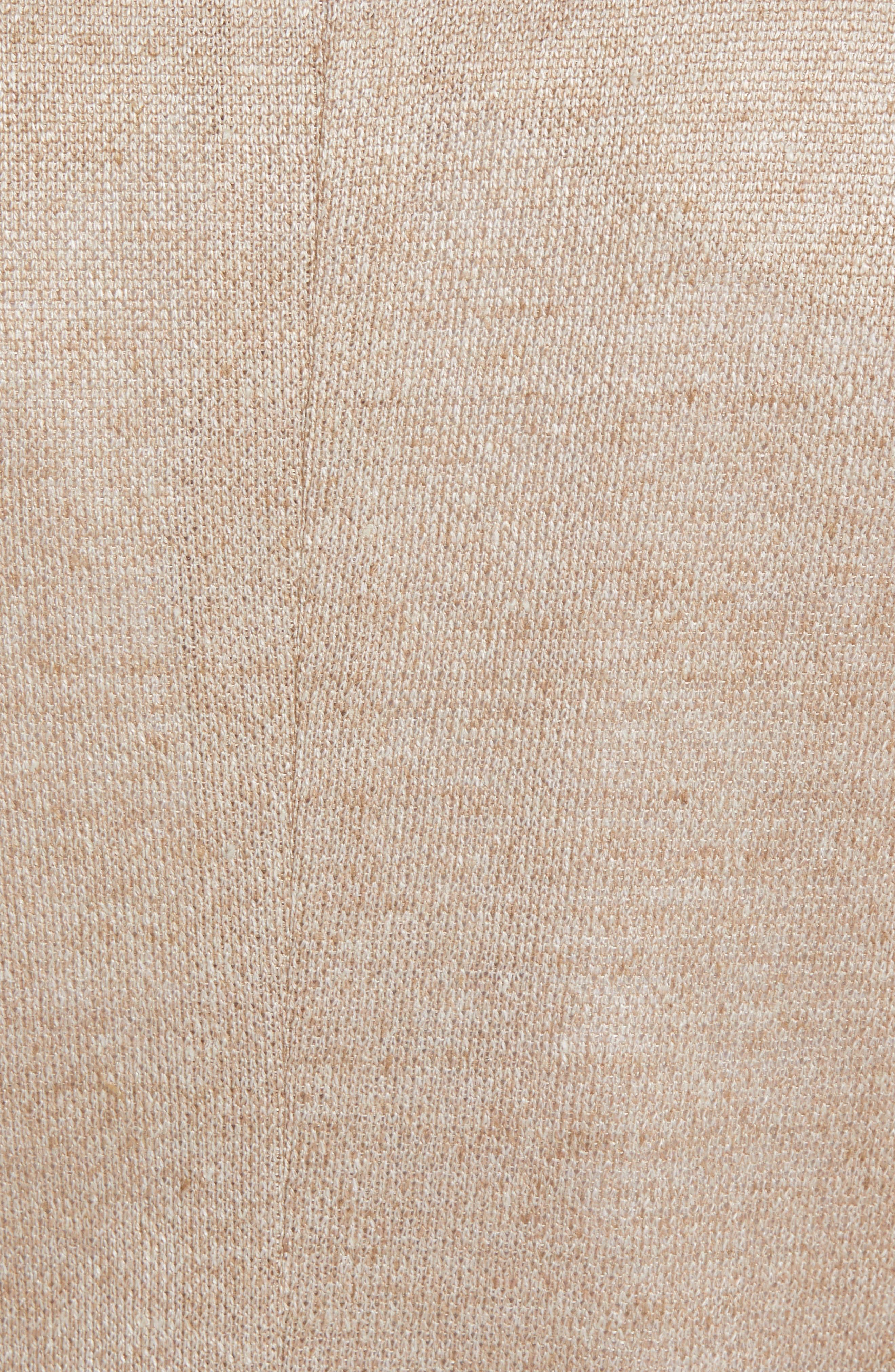 Trim Fit Linen Sport Coat,                             Alternate thumbnail 6, color,                             OATMEAL