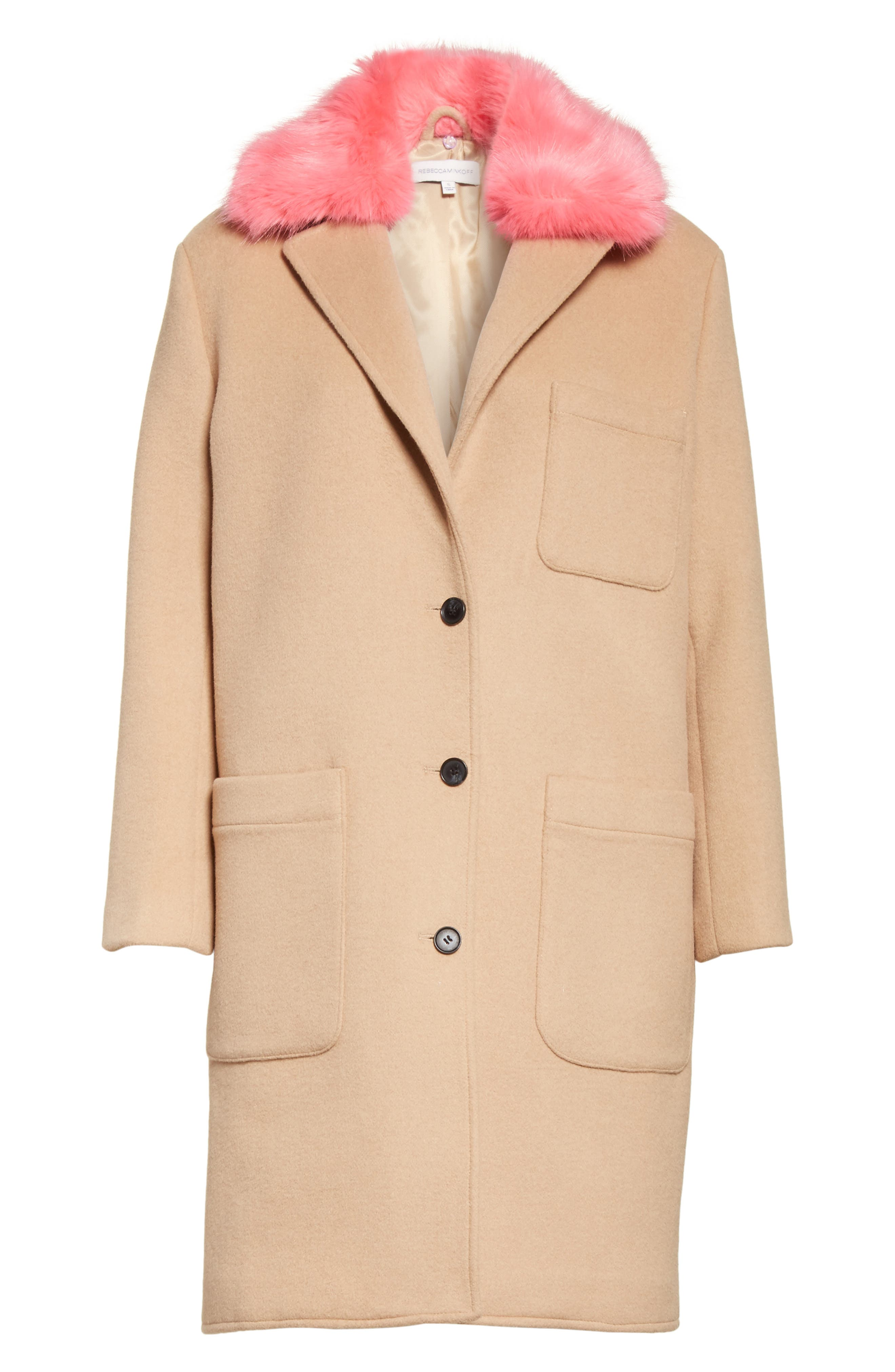 Allegra Wool Blend Coat,                             Alternate thumbnail 5, color,                             232