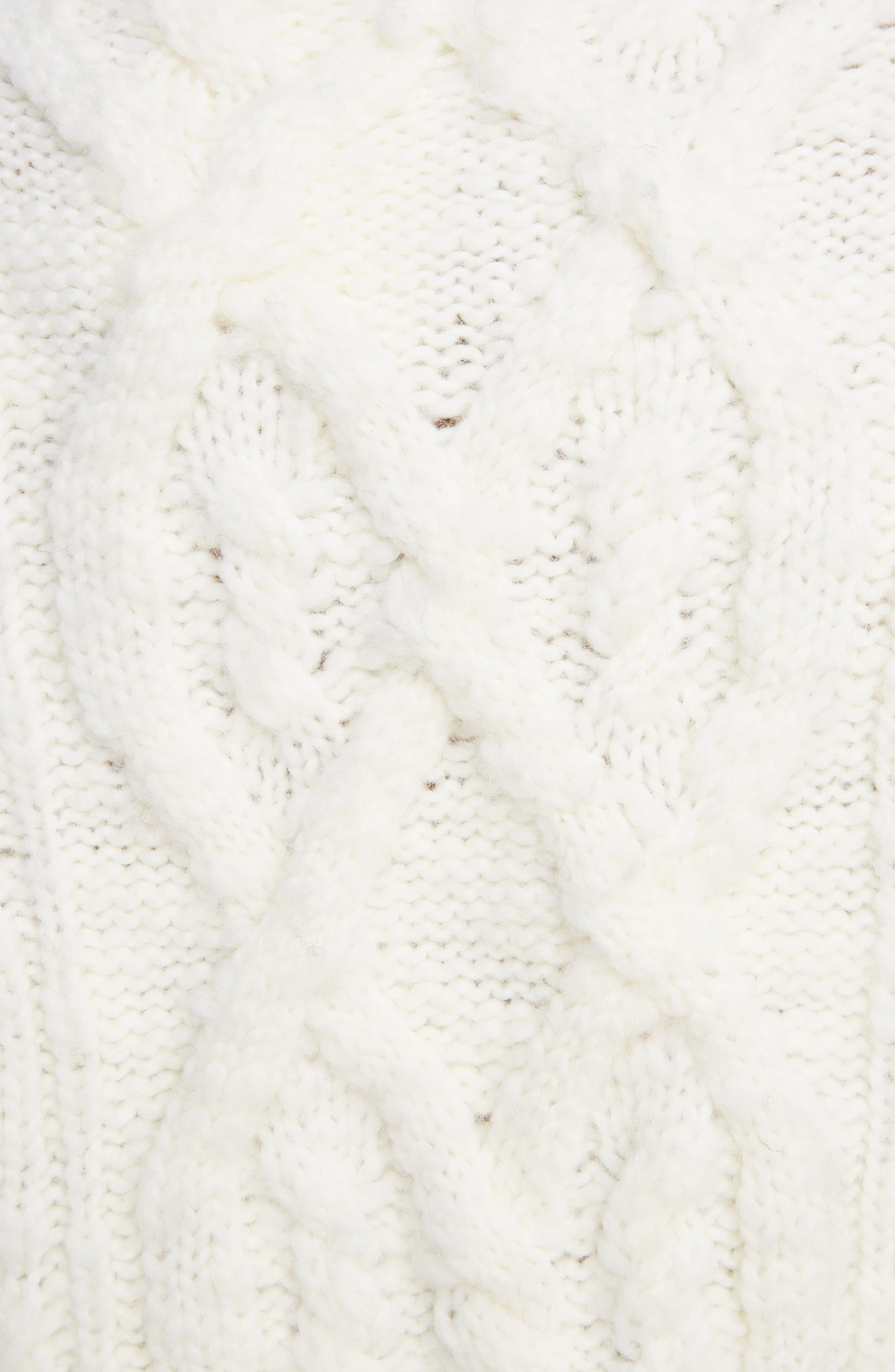Edyta Cable Knit Sweater,                             Alternate thumbnail 5, color,                             900