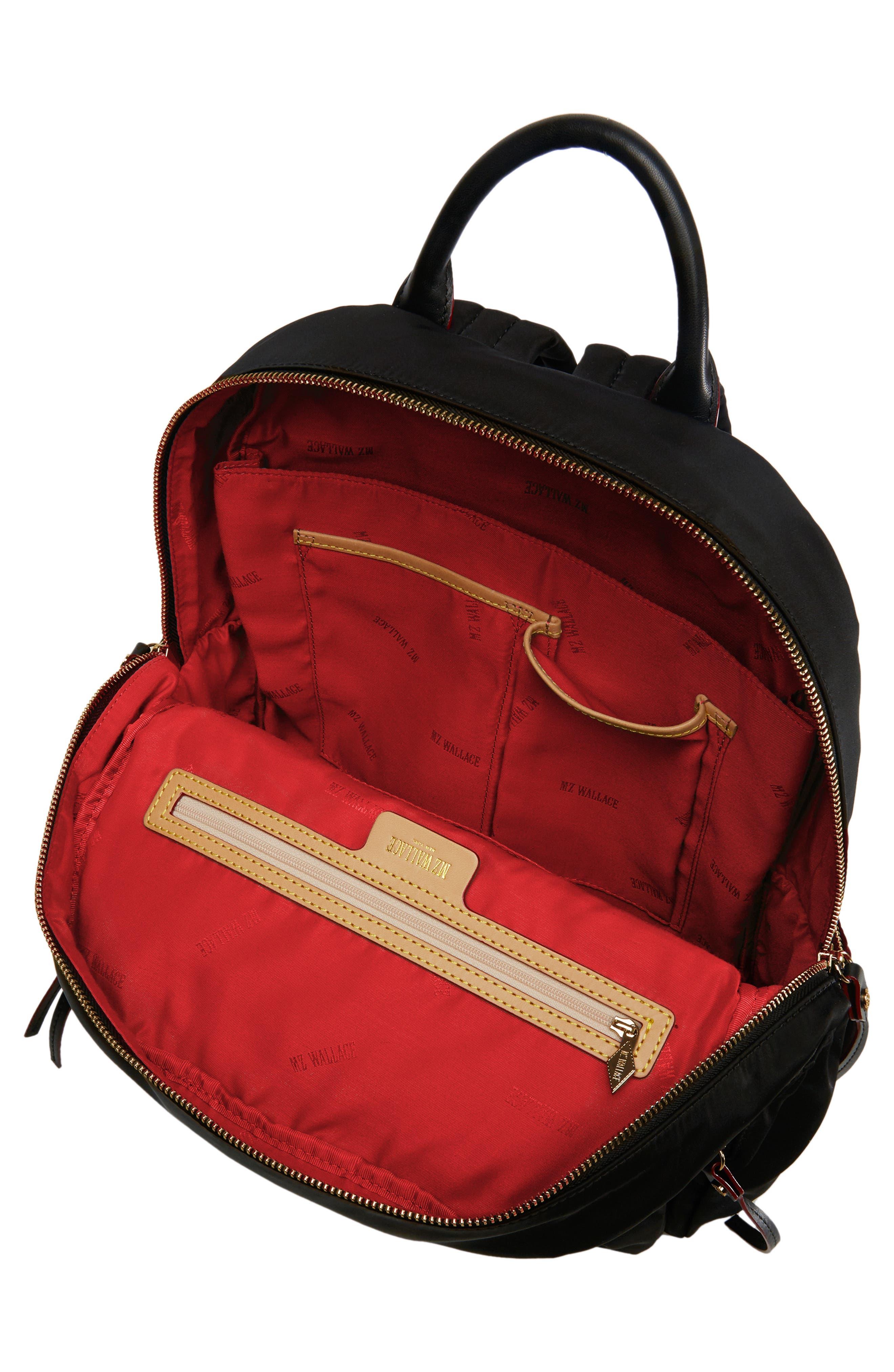 Madelyn Bedford Nylon Backpack,                             Alternate thumbnail 4, color,                             BLACK