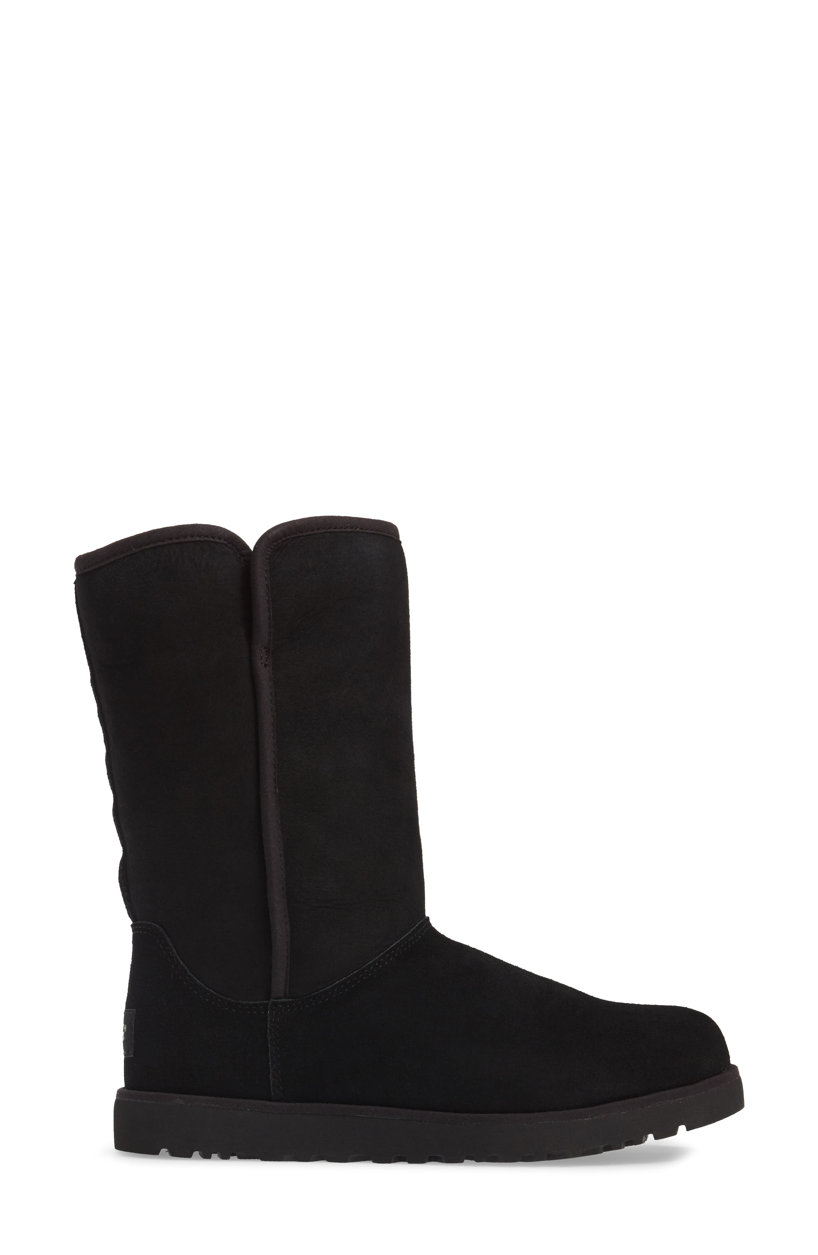 'Michelle' Boot,                             Alternate thumbnail 3, color,                             BLACK SUEDE