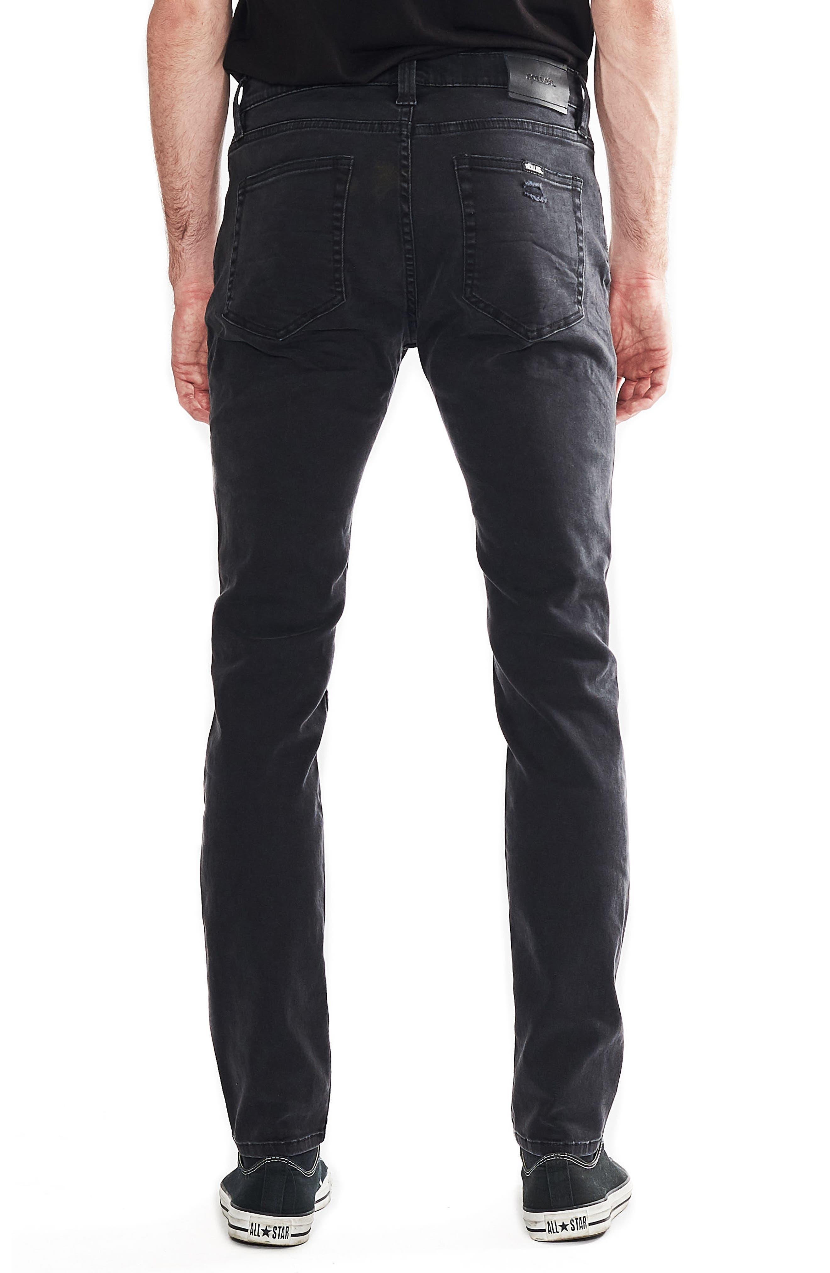 Stinger Skinny Fit Jeans,                             Alternate thumbnail 2, color,                             BLOWOUT BLACK