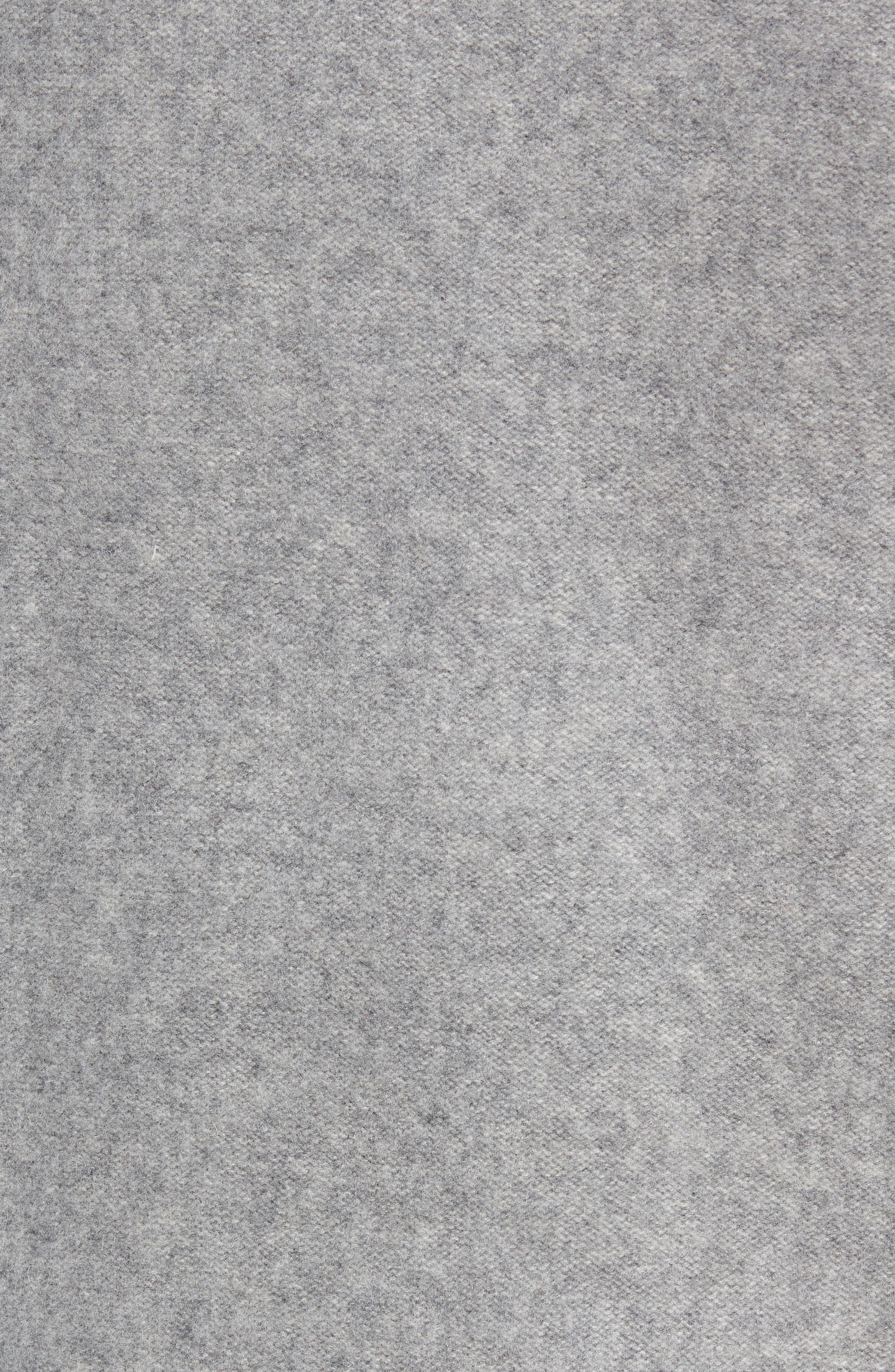 Cashmere Quarter Zip Sweater,                             Alternate thumbnail 5, color,                             H GREY