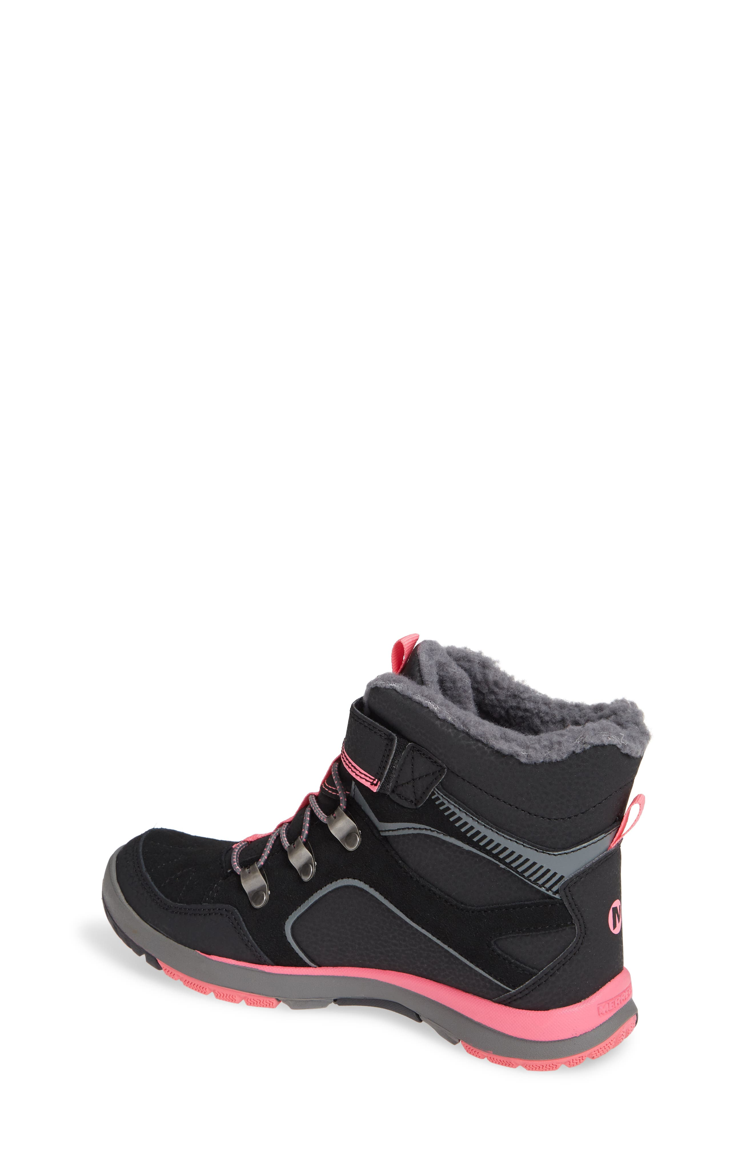 Moab FST Polar Mid Waterproof Insulated Sneaker Boot,                             Alternate thumbnail 2, color,                             BLACK/ PINK