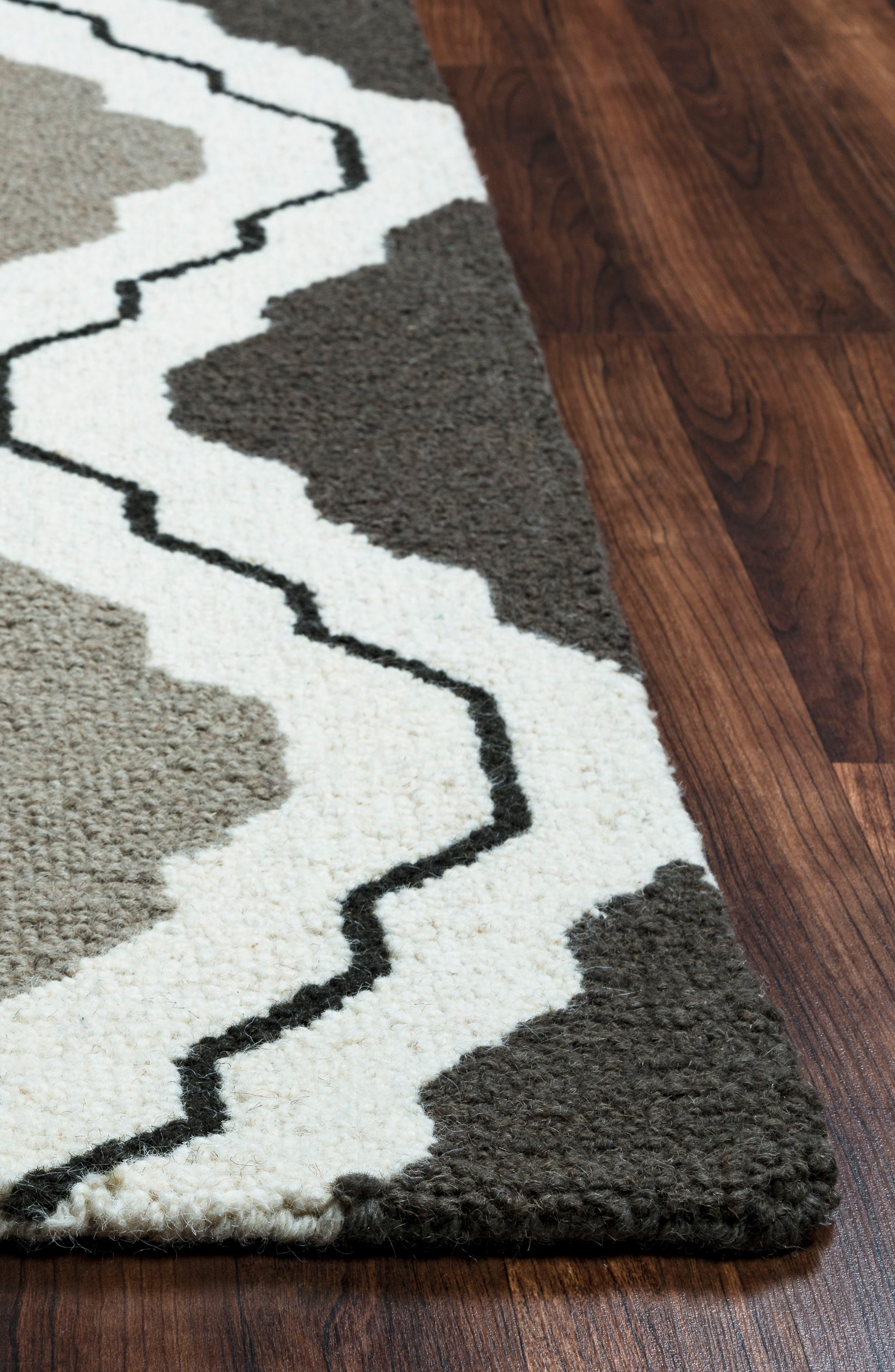 'Ogee' Wool Area Rug,                             Alternate thumbnail 3, color,                             030