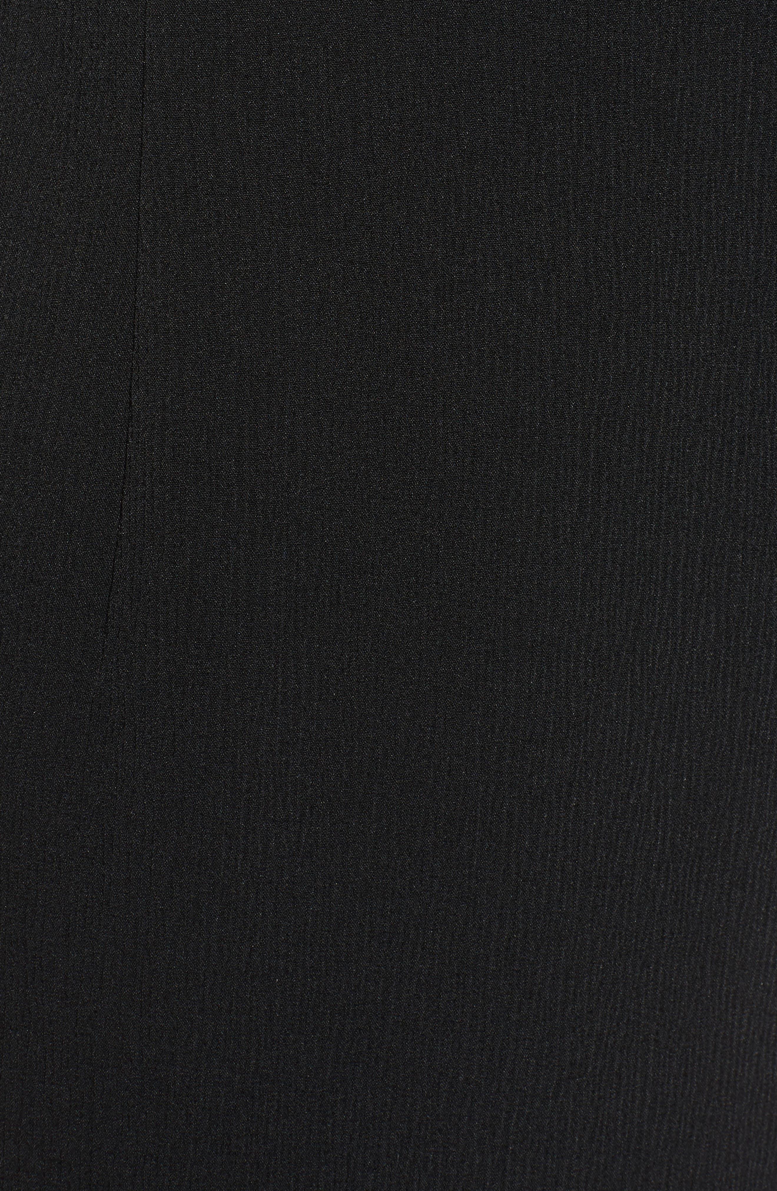 Dadena Crepe Sheath Dress,                             Alternate thumbnail 5, color,                             001