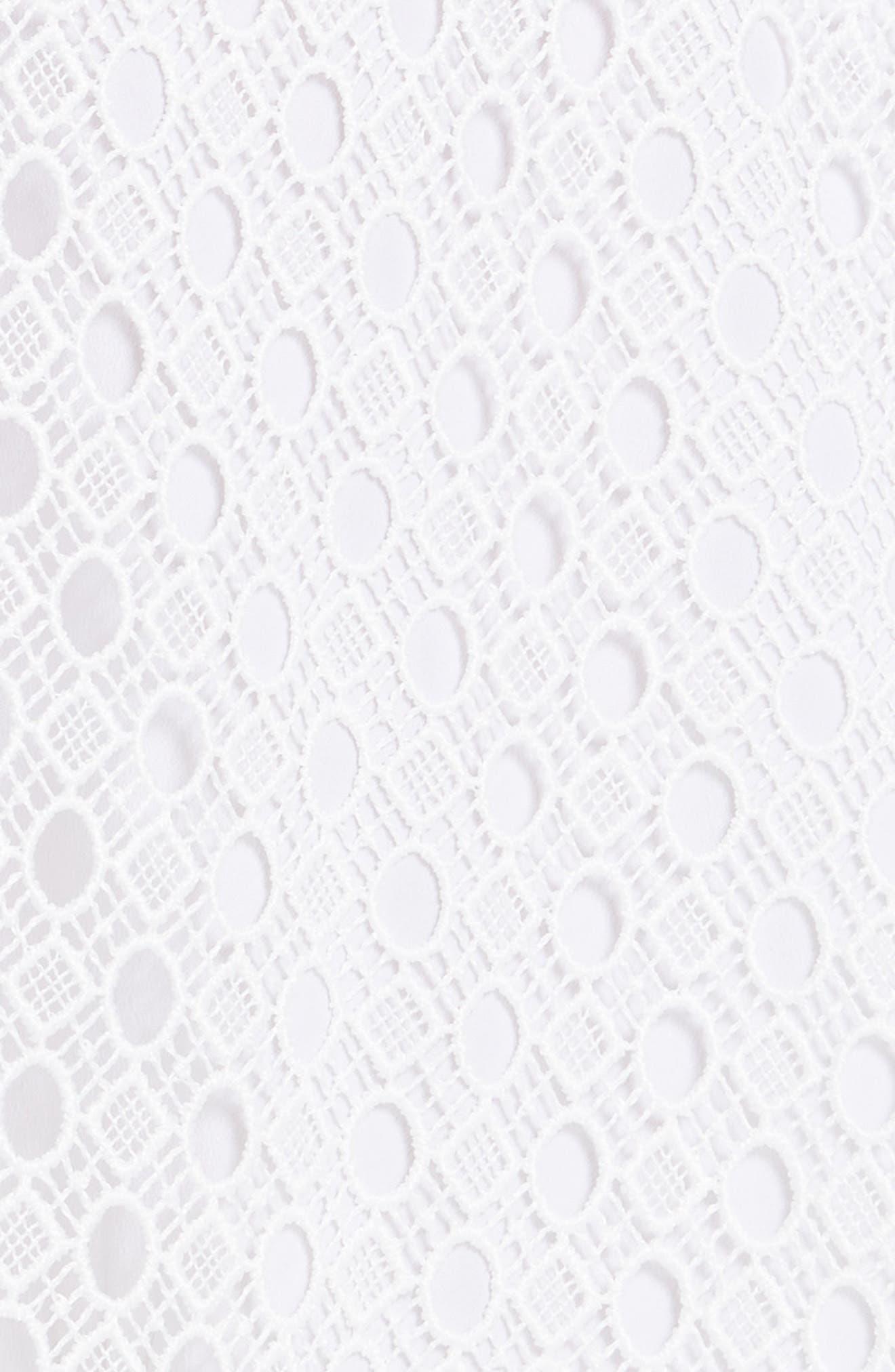 Blanc Lace Square Neck Dress,                             Alternate thumbnail 5, color,                             100