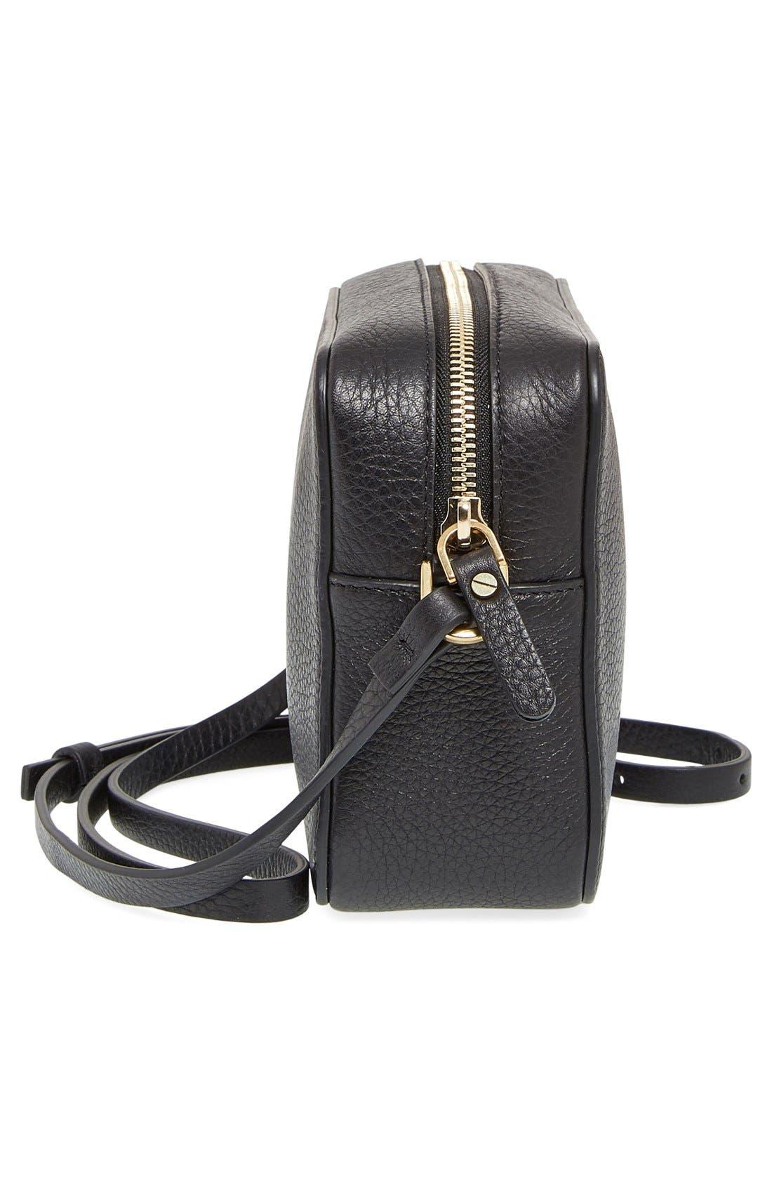 'Nomad' Leather Camera Bag,                             Alternate thumbnail 2, color,                             001