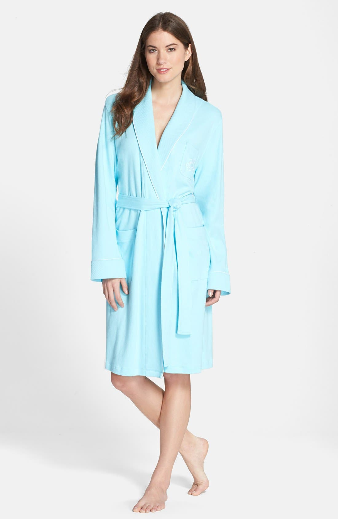 Quilted Collar Robe,                             Main thumbnail 8, color,