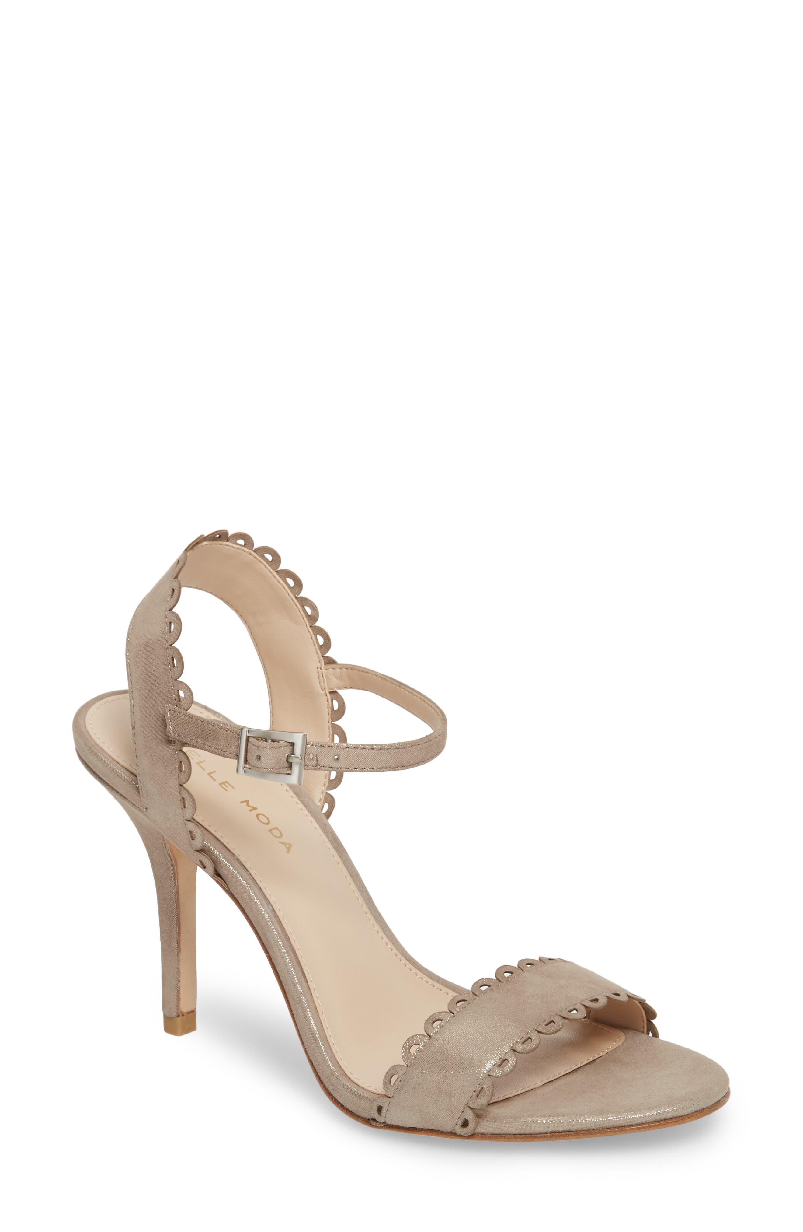 Karen Scallop Ankle Strap Sandal,                             Main thumbnail 2, color,
