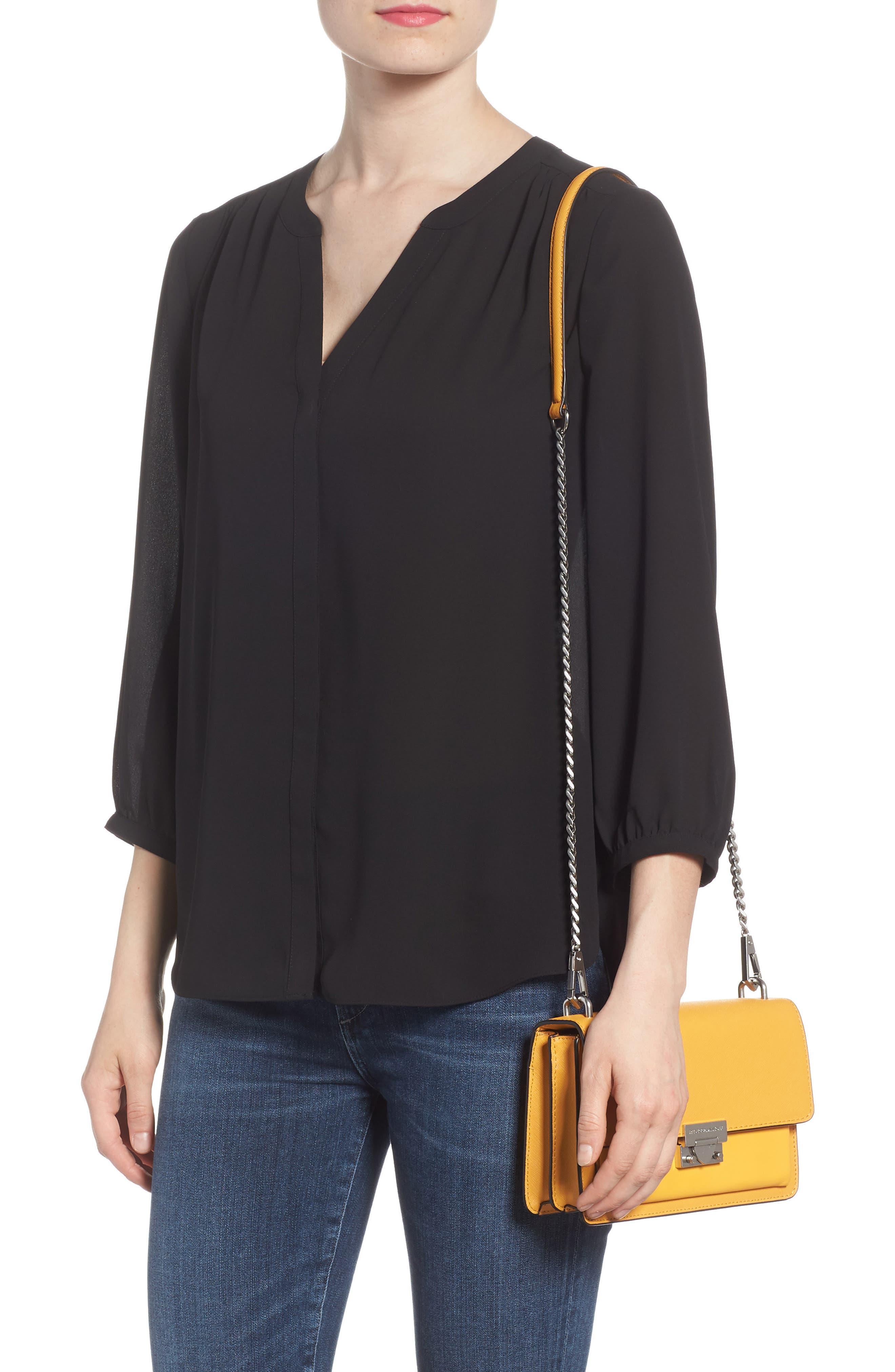 Medium Christy Leather Shoulder Bag,                             Alternate thumbnail 7, color,