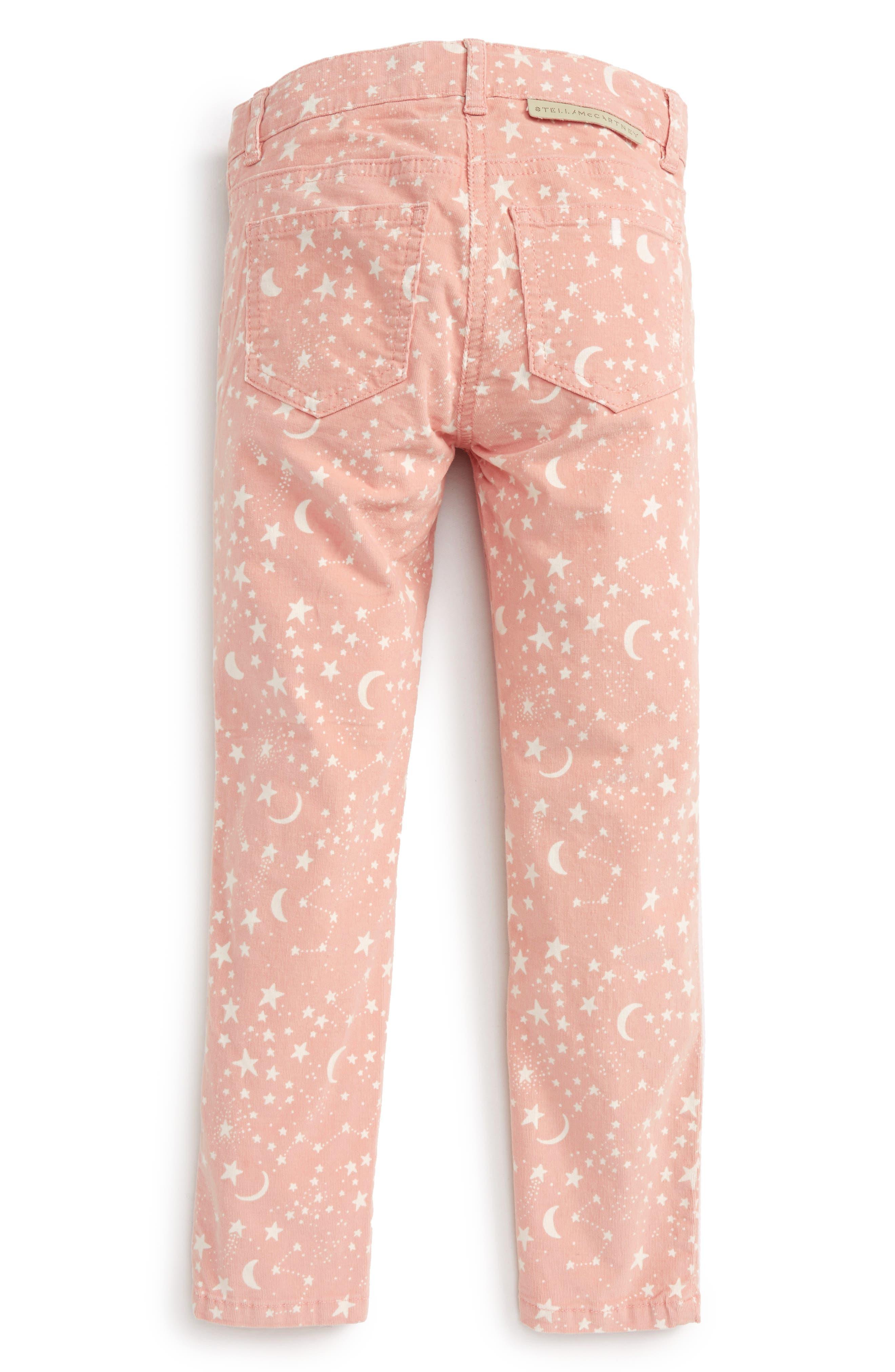 Kids Nina Star & Moon Print Skinny Corduroy Pants,                             Alternate thumbnail 2, color,                             650