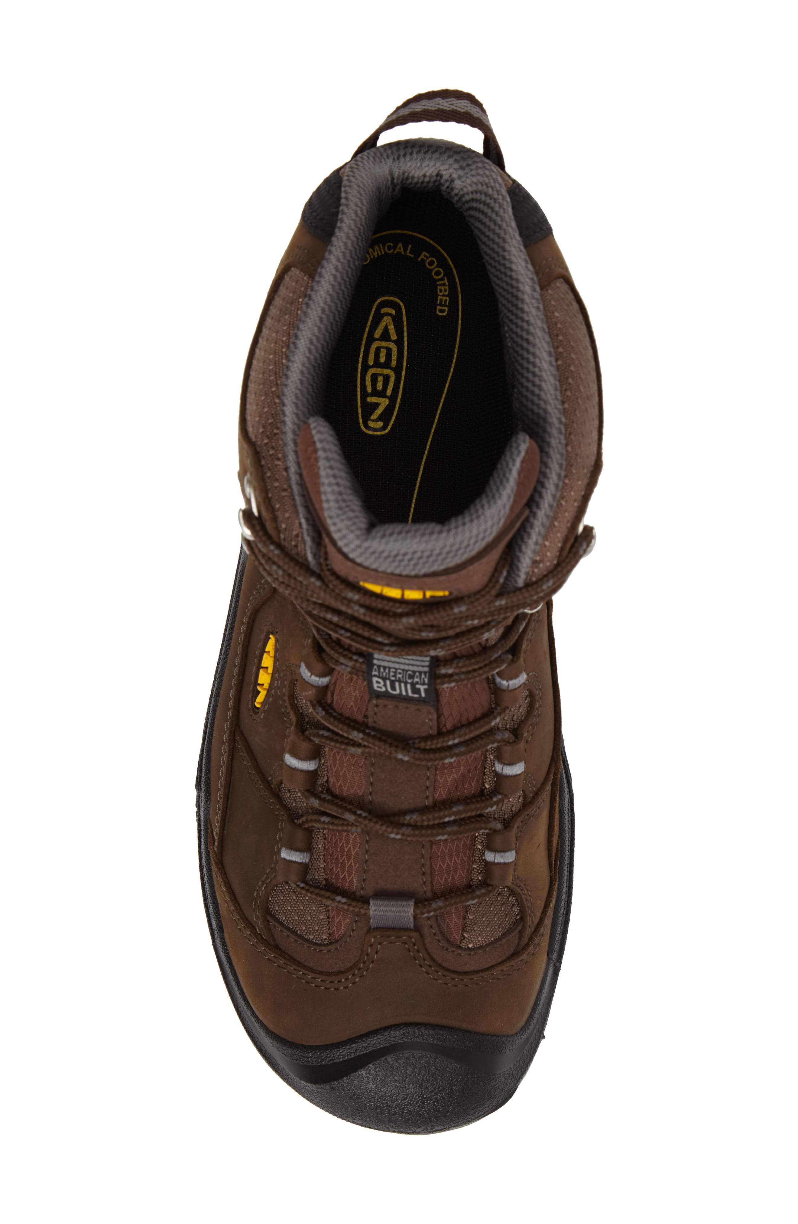 Durand Mid Waterproof Hiking Boot,                             Alternate thumbnail 5, color,                             BROWN LEATHER