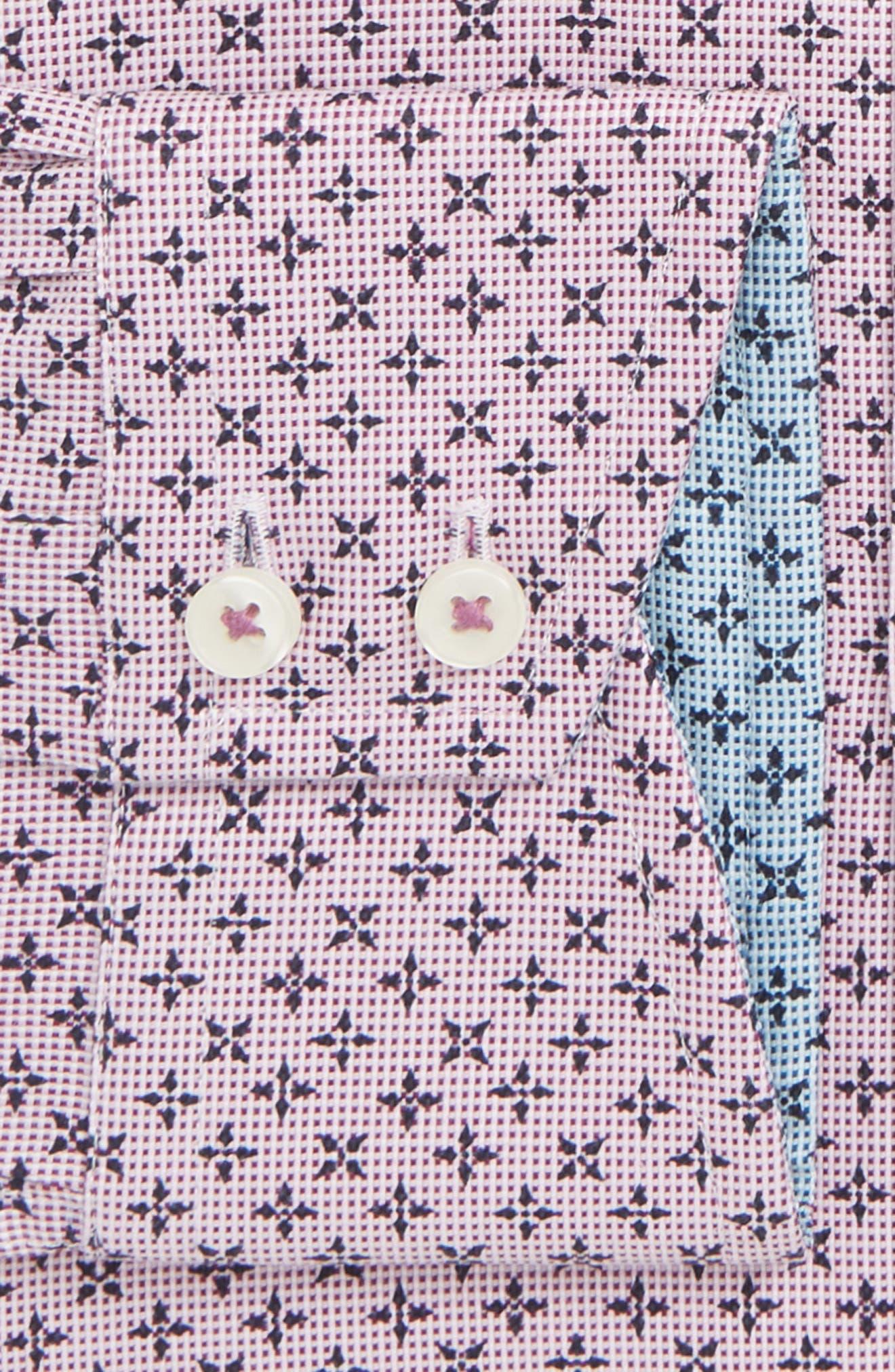 Bodder Trim Fit Print Dress Shirt,                             Alternate thumbnail 2, color,                             601