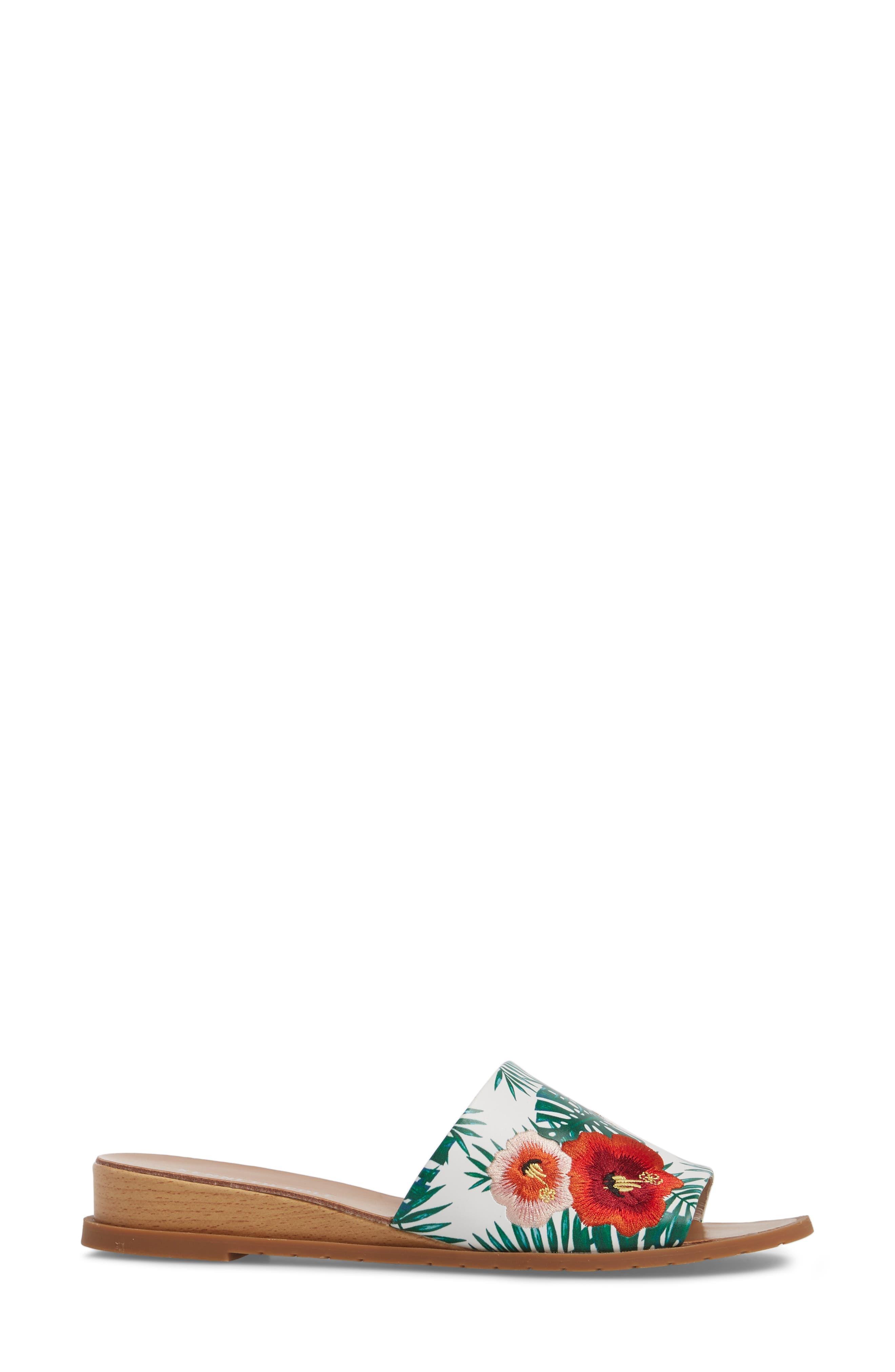 Joanne Flower Embroidered Slide Sandal,                             Alternate thumbnail 18, color,