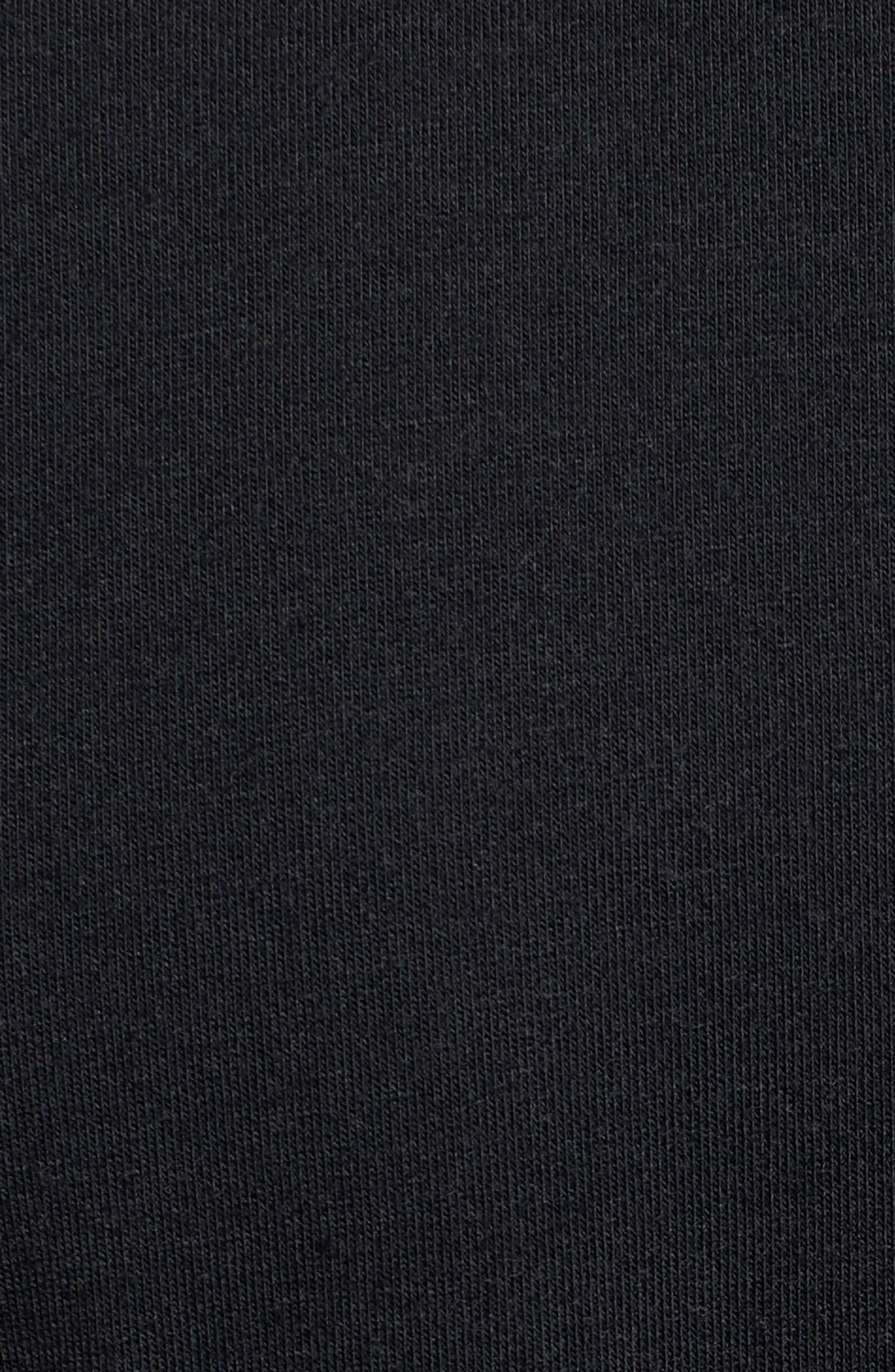 Microthread Swyft V-Neck T-Shirt,                             Alternate thumbnail 5, color,                             BLACK/ BLACK/ REFLECTIVE