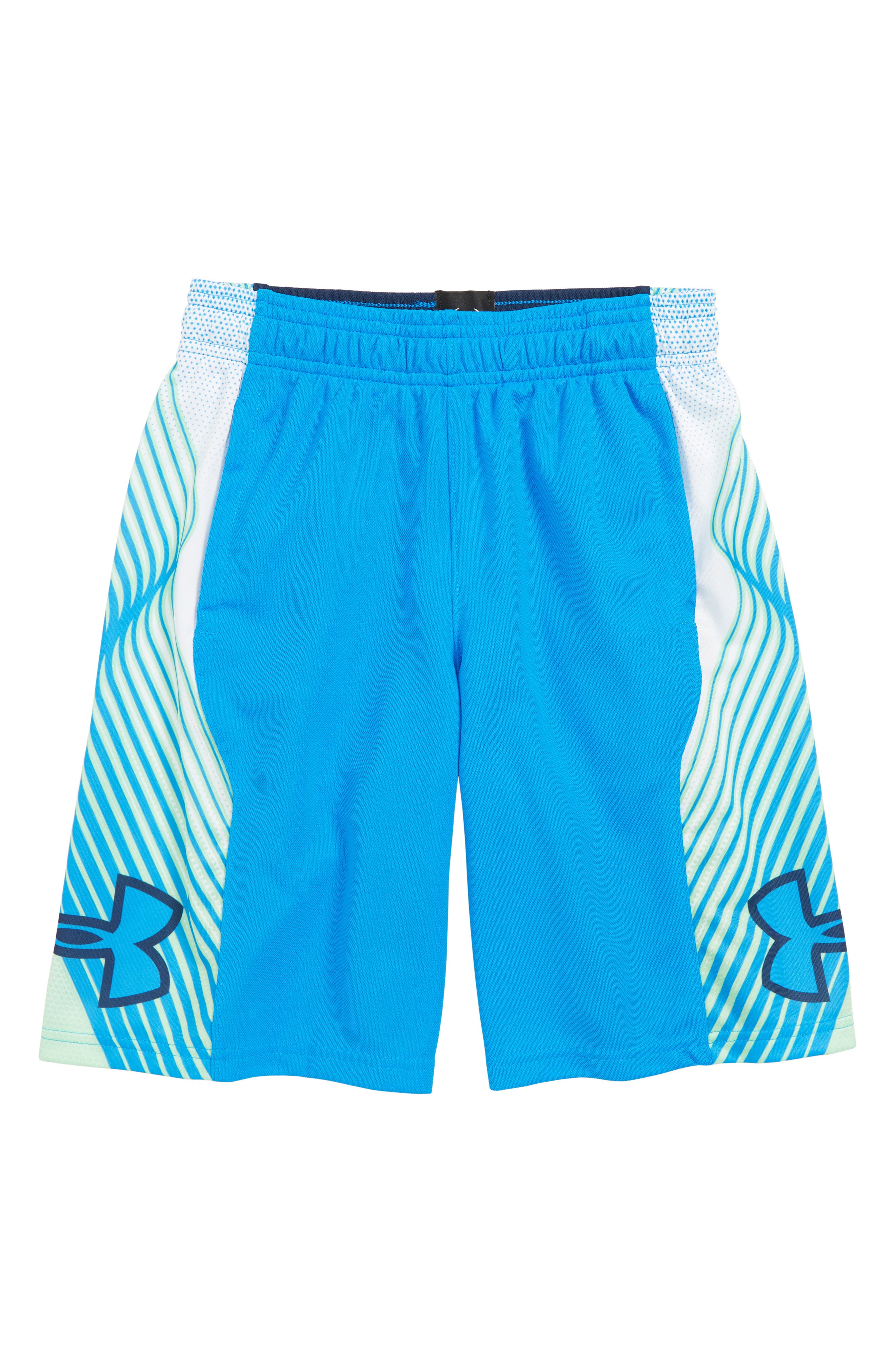 Space the Floor HeatGear<sup>®</sup> Shorts,                             Main thumbnail 1, color,                             BLUE CIRCUIT/ ACADEMY