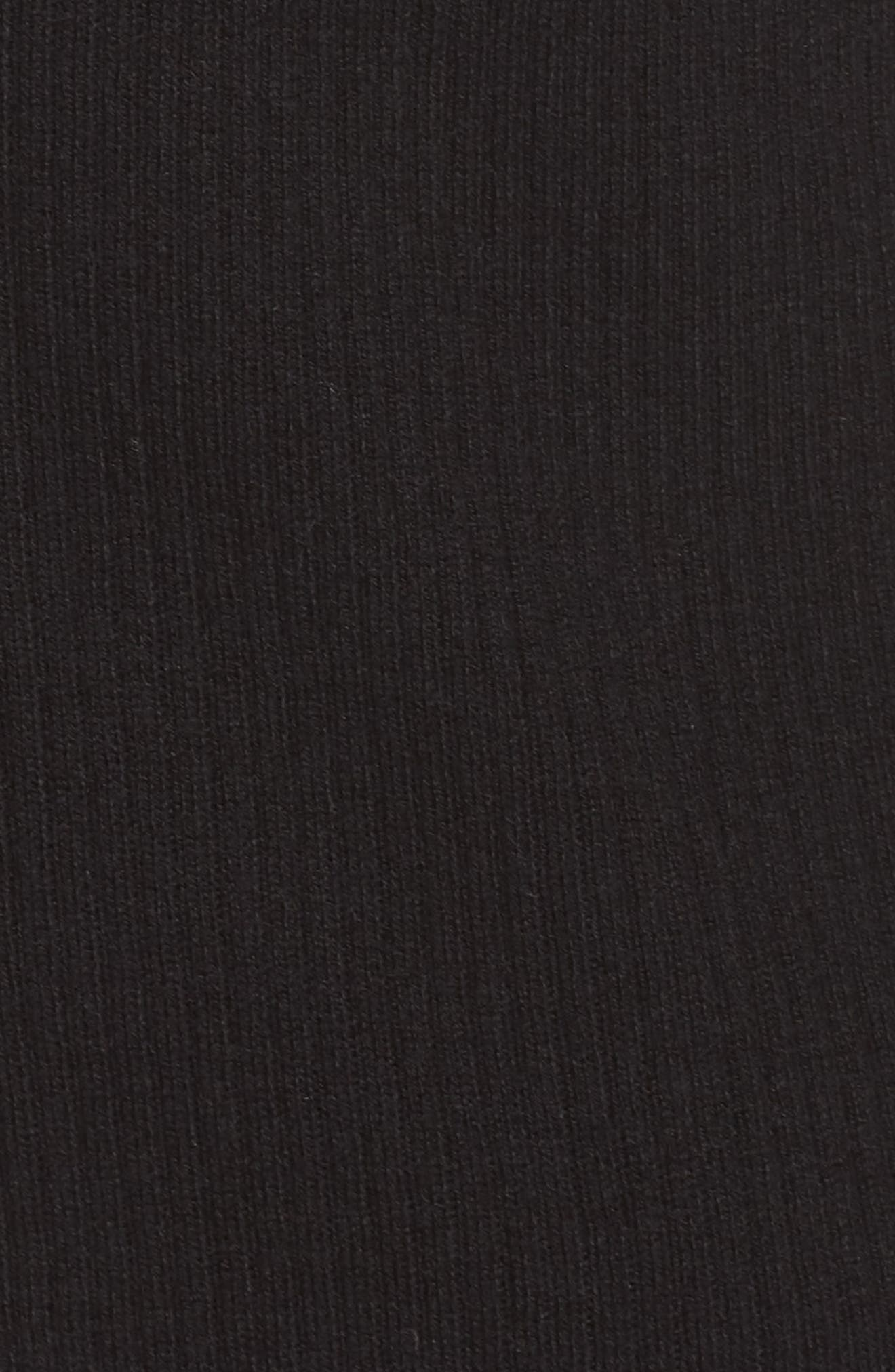 Ribbed Shawl Collar Cardigan,                             Alternate thumbnail 5, color,                             BLACK