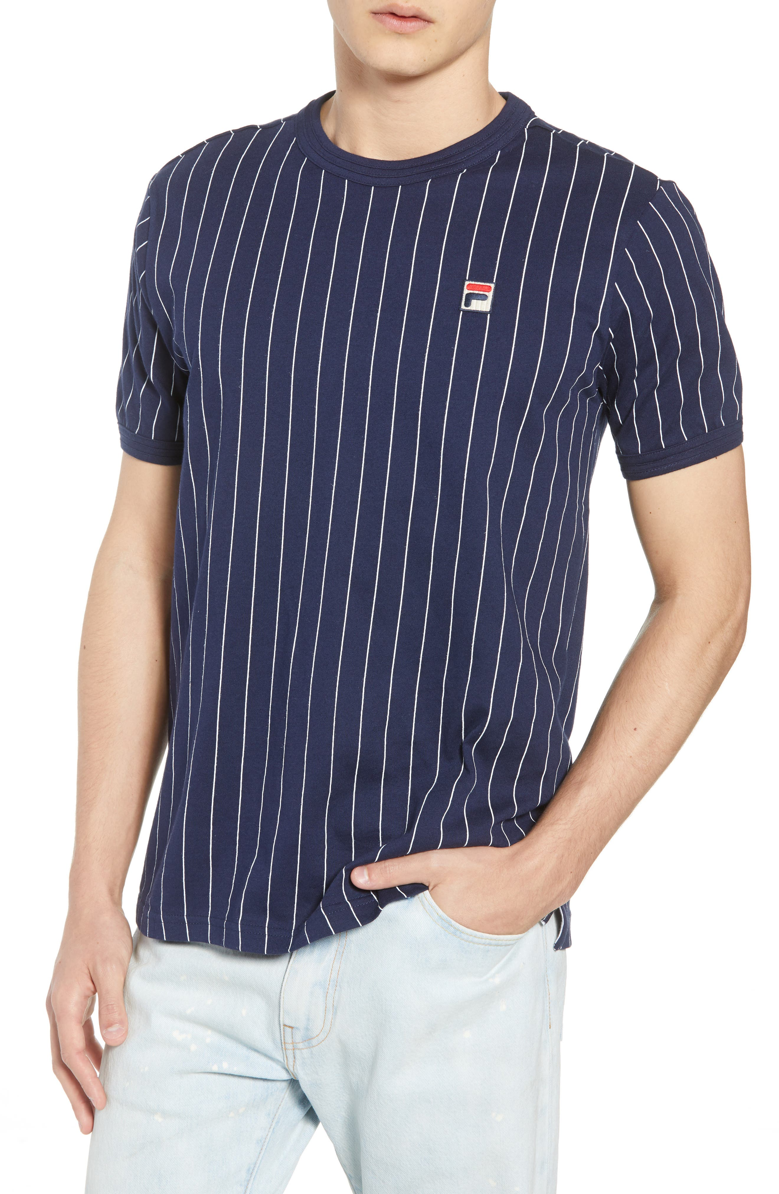 Guilo T-Shirt,                         Main,                         color, PEACOAT/ WHITE