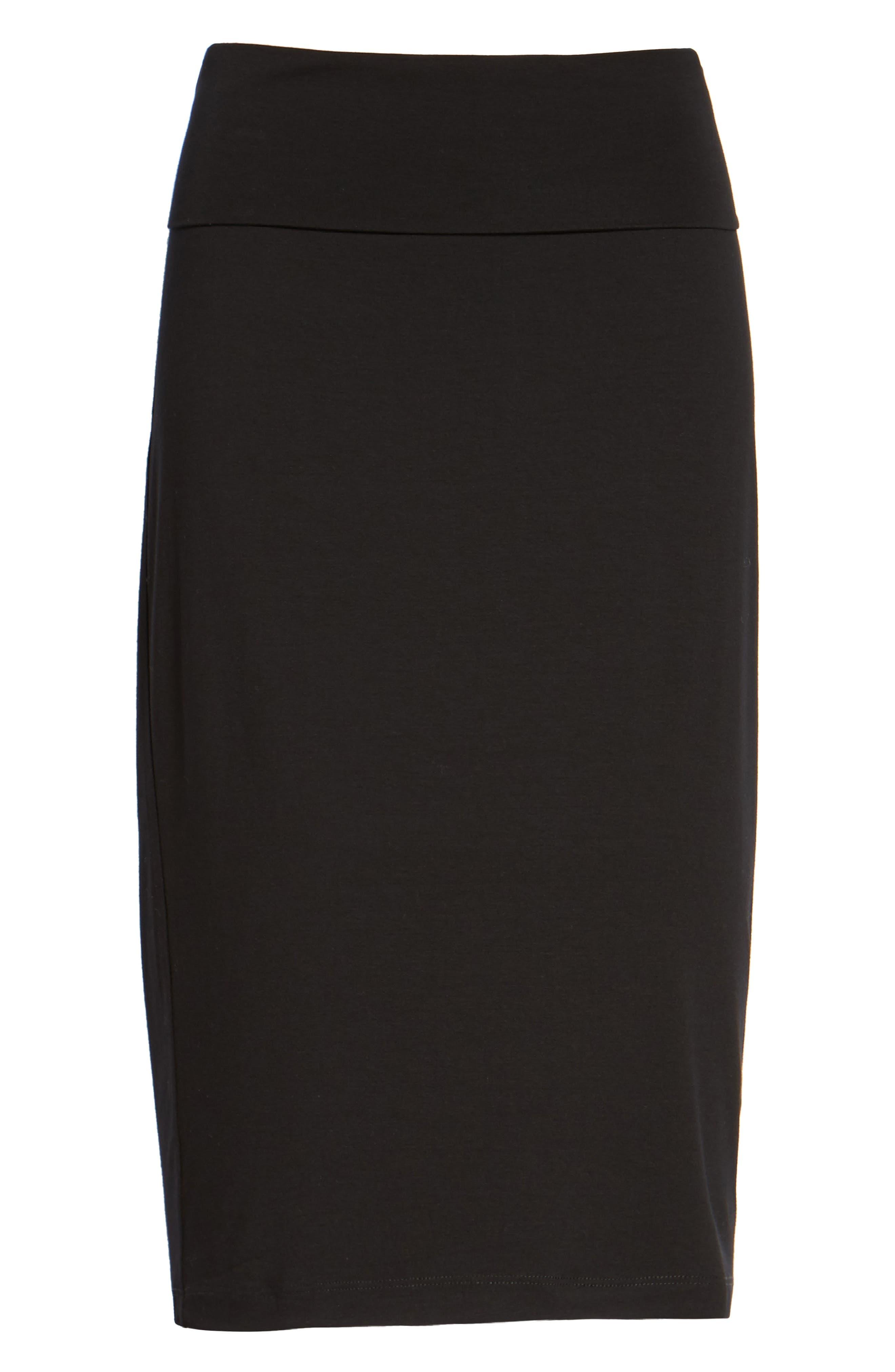 Foldover Waist Straight Skirt,                             Alternate thumbnail 2, color,                             001