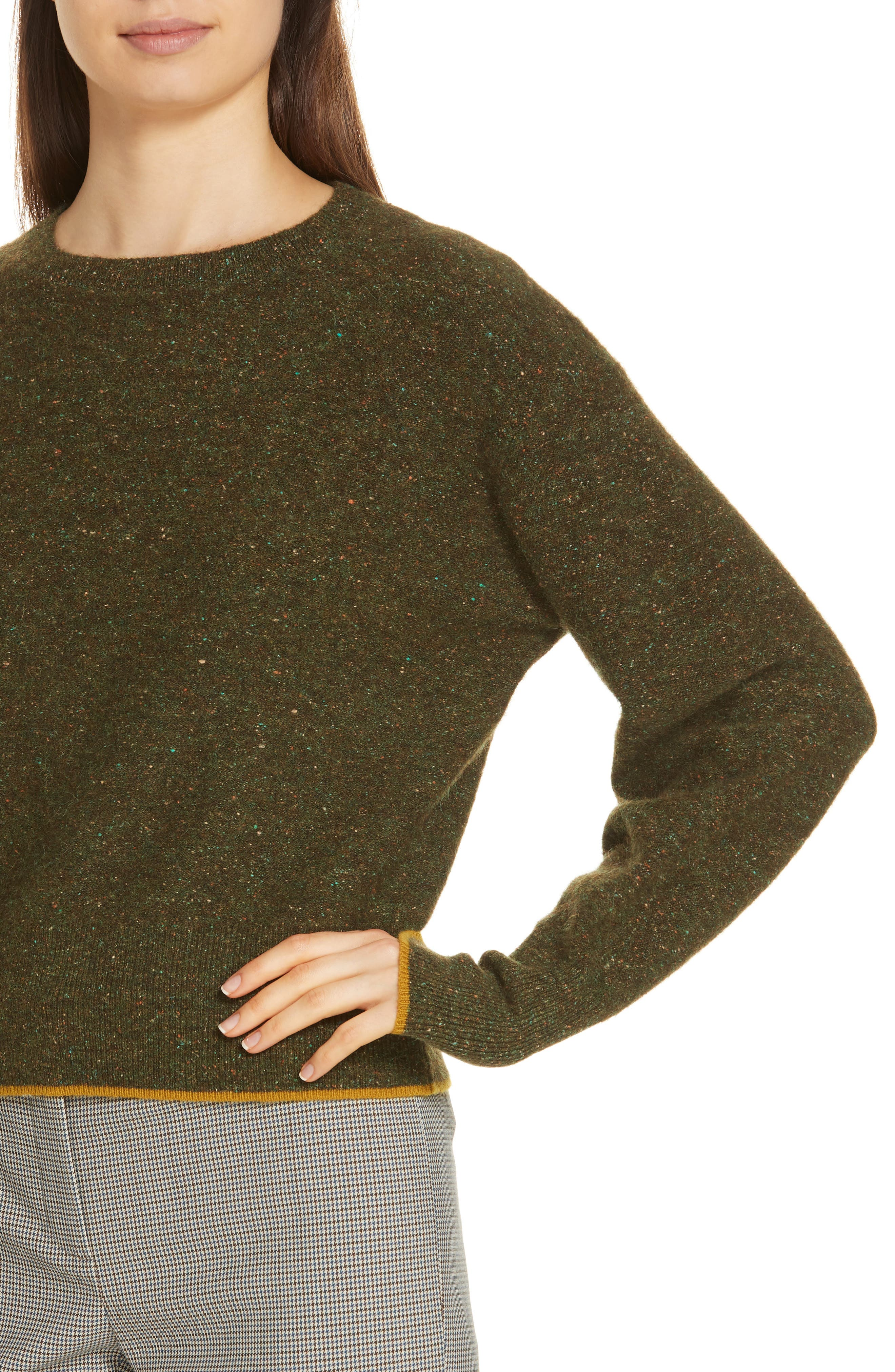 Tweed Knit Sweater,                             Alternate thumbnail 4, color,                             310