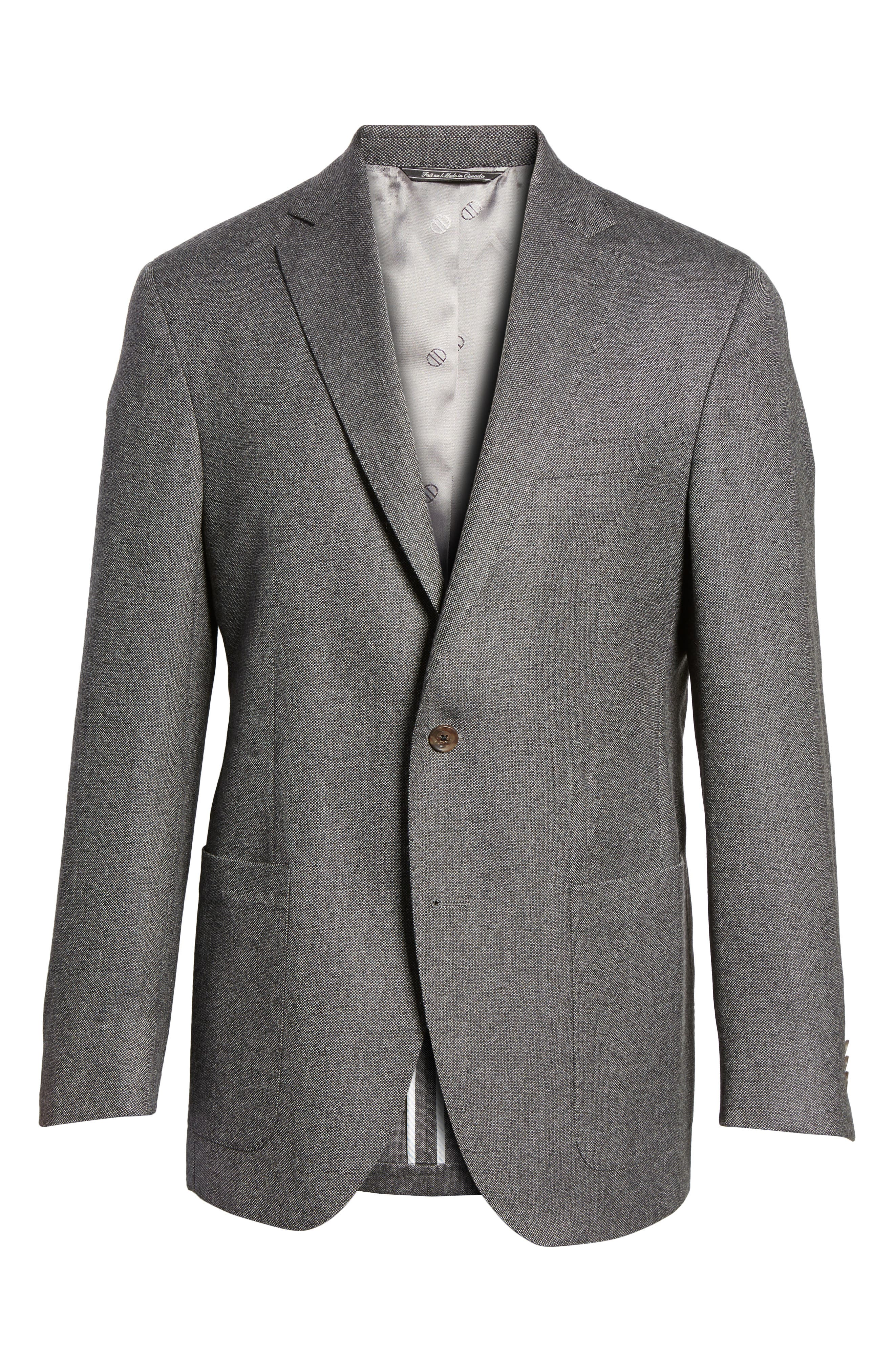 Aiden Classic Fit Wool Blazer,                             Alternate thumbnail 5, color,                             020