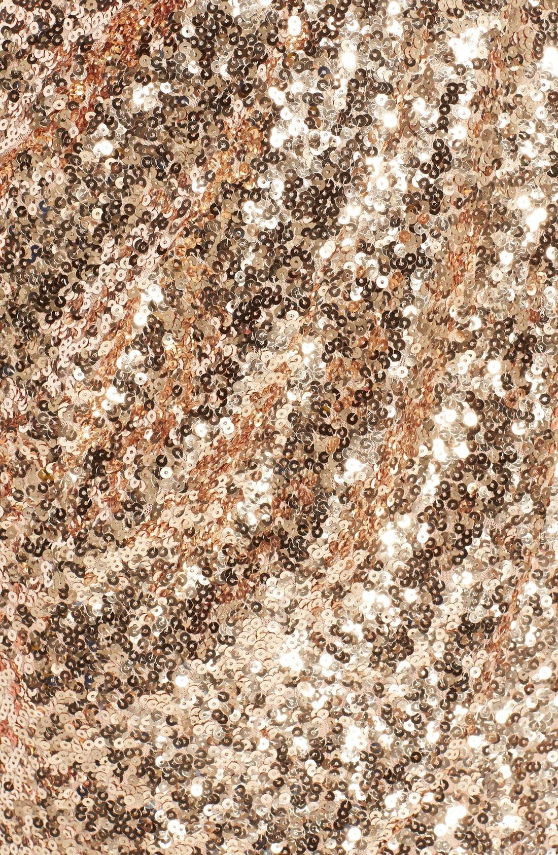 Sequin Mesh Faux Wrap Dress,                             Alternate thumbnail 10, color,