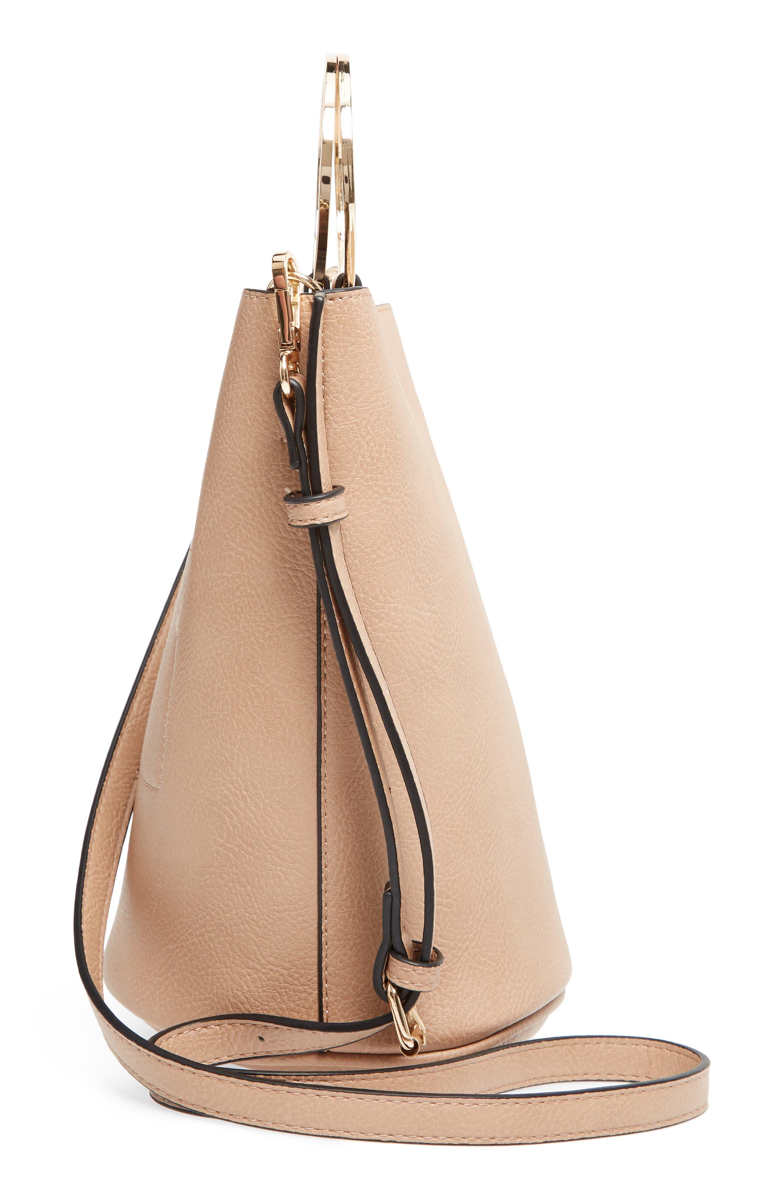 Mali + Lili Ilia Vegan Leather Ring Handle Bucket Bag,                             Alternate thumbnail 14, color,