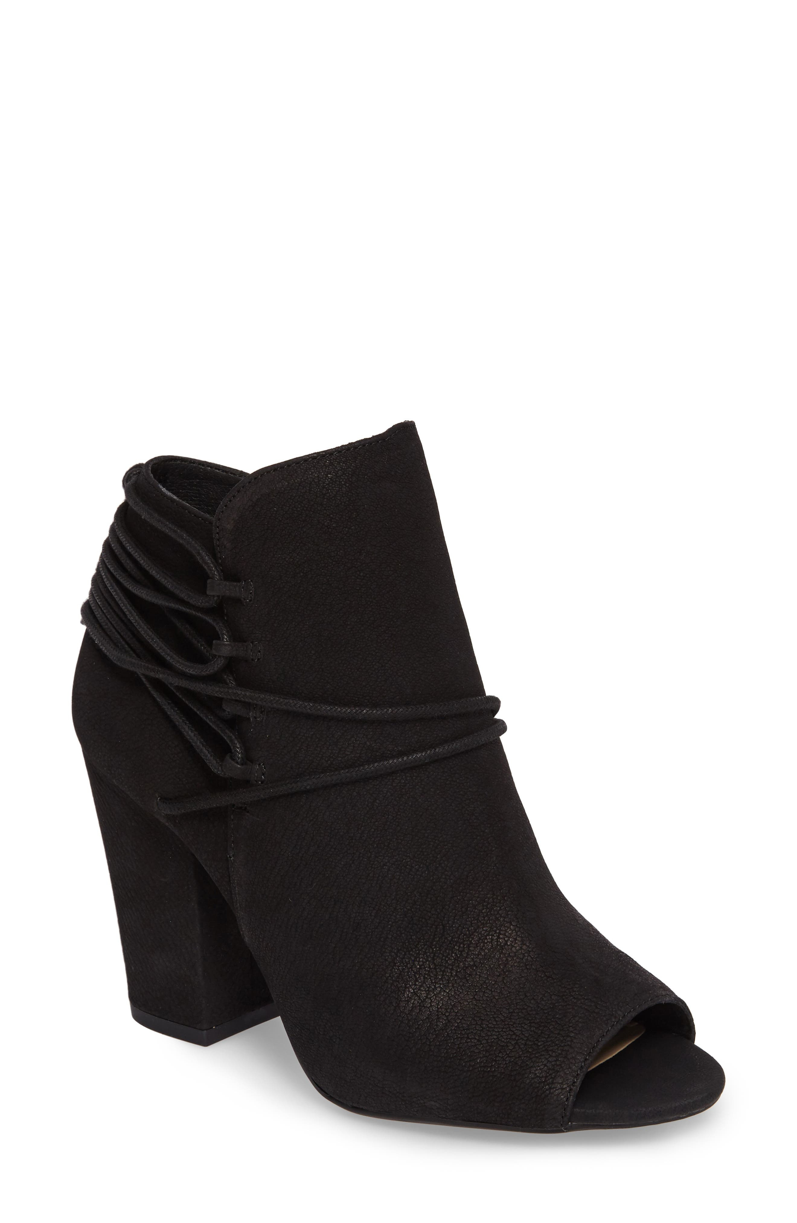 Remni Peep Toe Bootie,                             Main thumbnail 1, color,                             001
