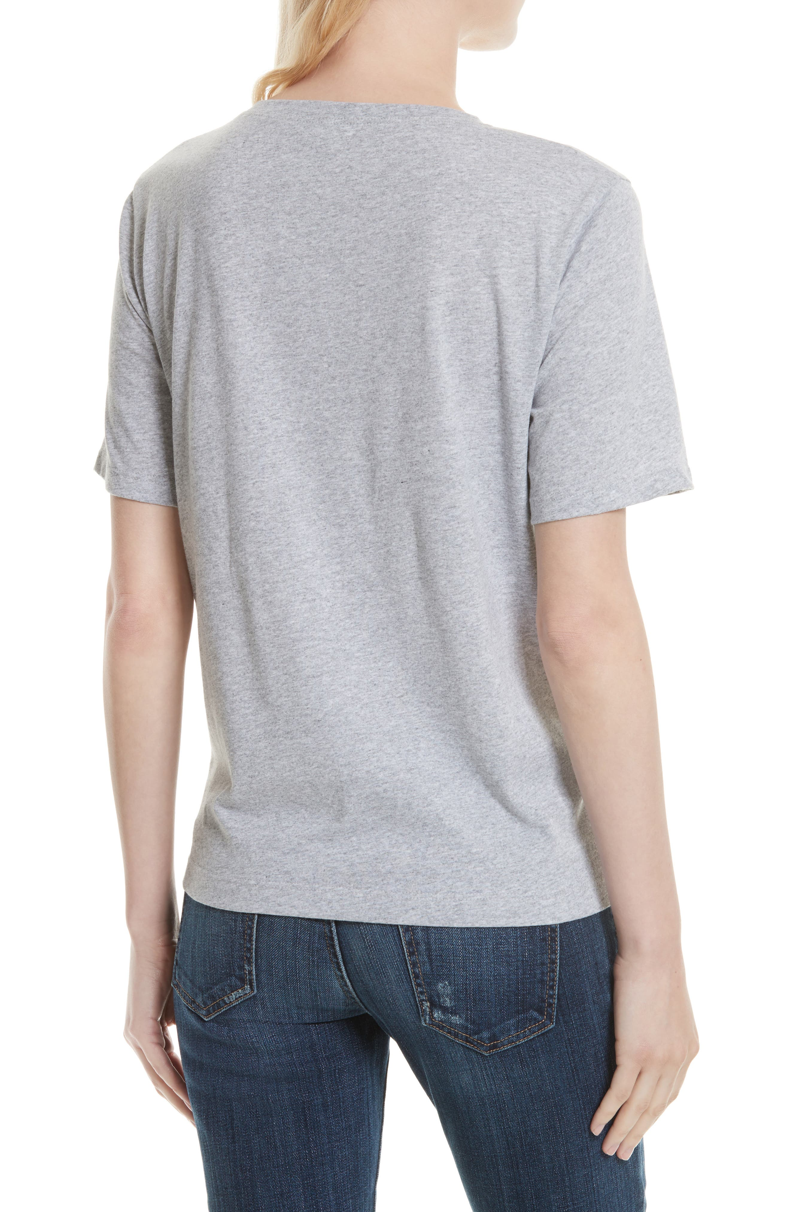 The Modern Cotton Tee,                             Alternate thumbnail 2, color,                             HEATHER GREY