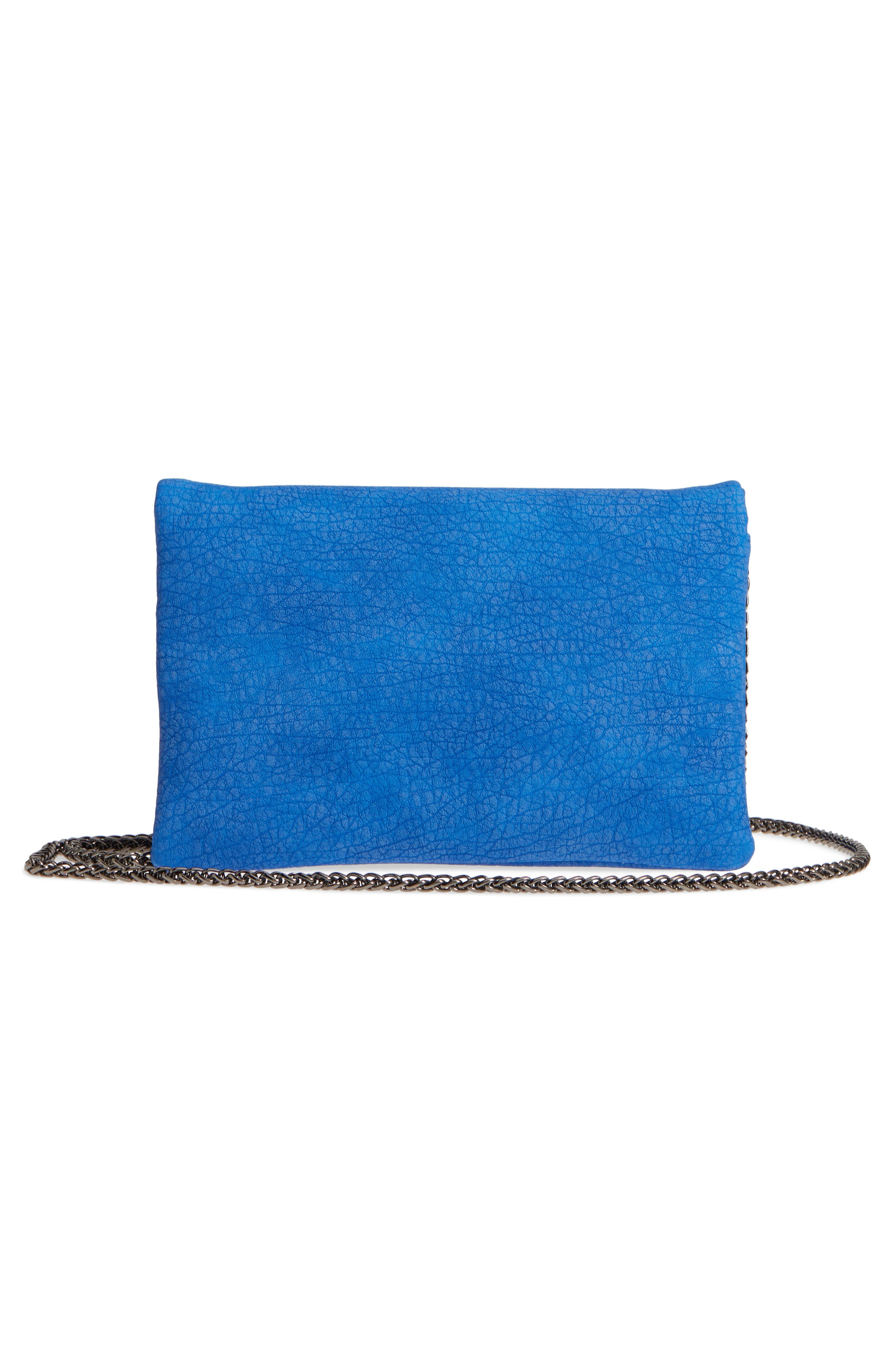 Studded Faux Leather Clutch,                             Alternate thumbnail 5, color,