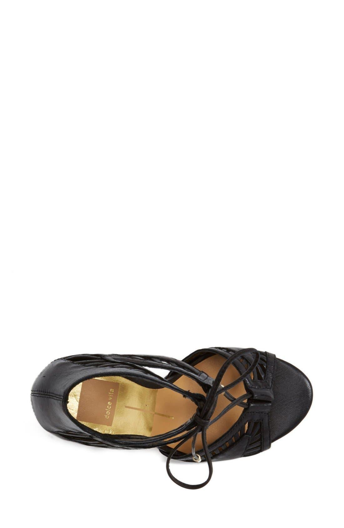 'Henlie' Open Toe Sandal,                             Alternate thumbnail 3, color,                             001