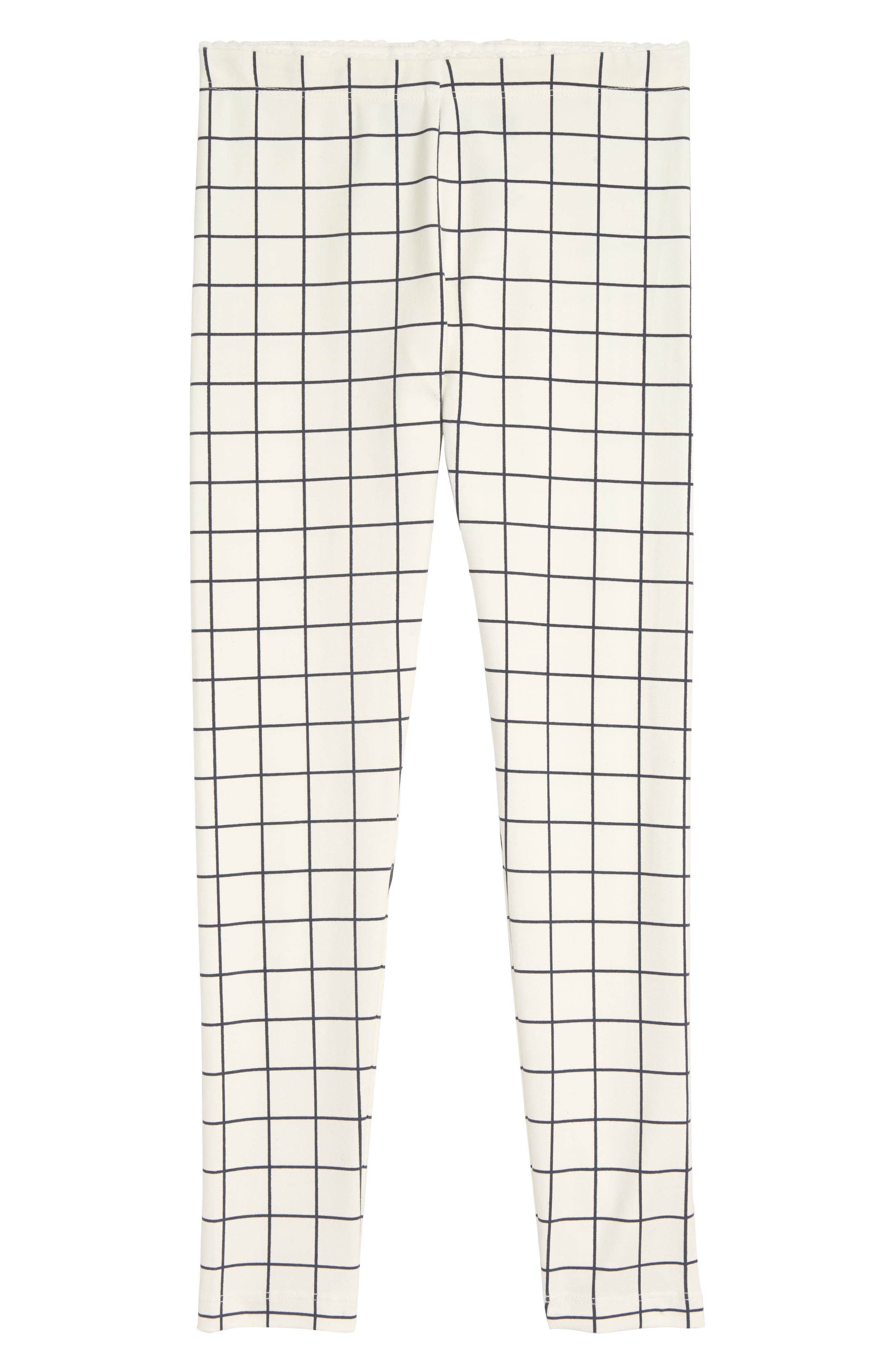 Toddler Girls Tea Collection City Grid Leggings Size 3T  Ivory